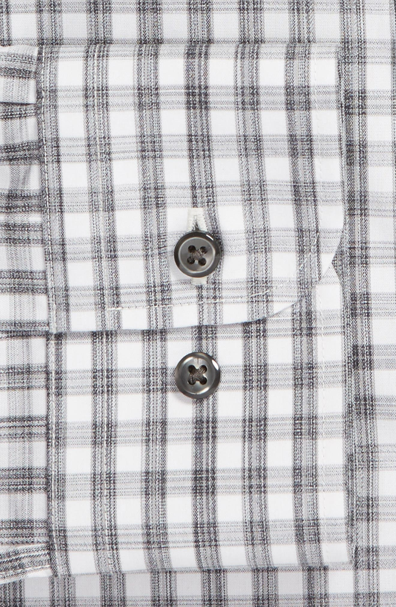 Traditional Fit No-Iron Check Dress Shirt,                             Alternate thumbnail 6, color,                             GREY SLEET