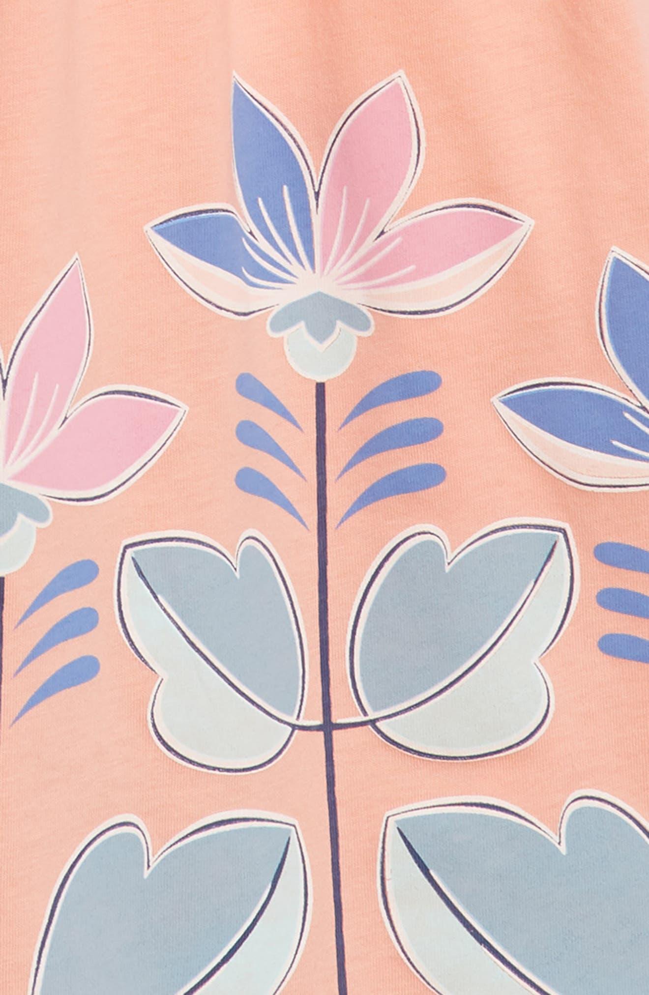 Floral Empire Waist Dress,                             Alternate thumbnail 3, color,                             953