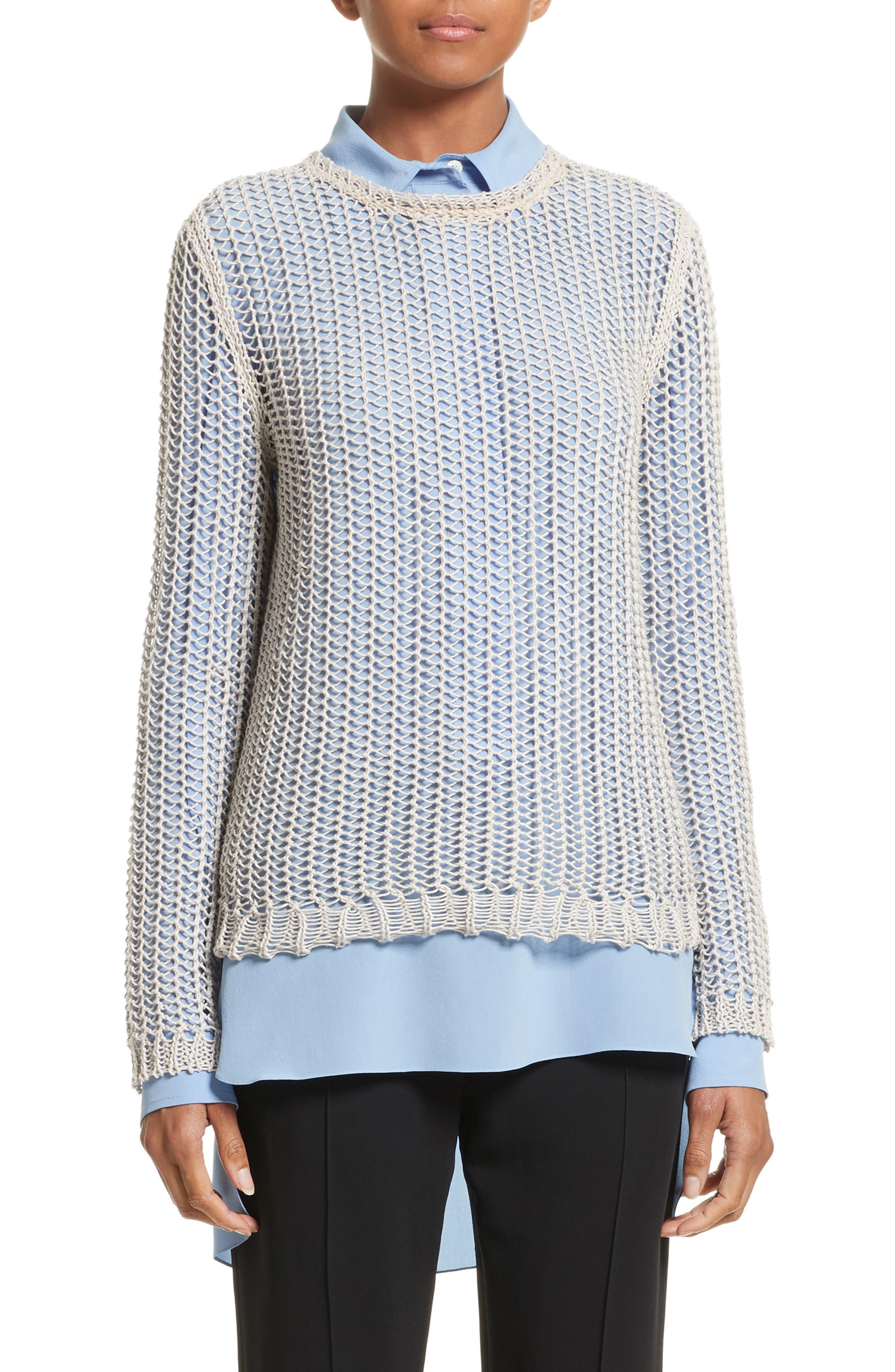 Fishnet Sweater,                             Main thumbnail 1, color,                             040