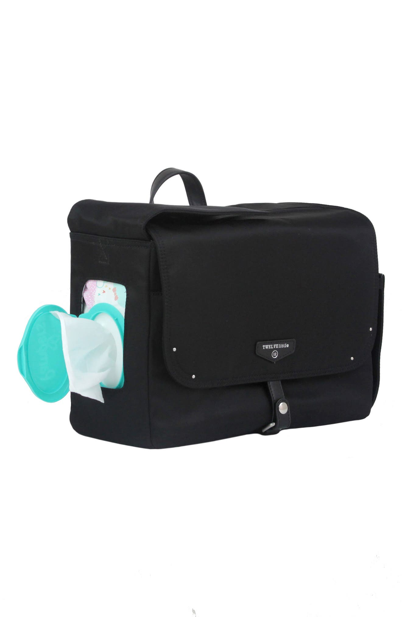 On-the-Go Water Resistant Stroller Caddy,                             Alternate thumbnail 5, color,                             BLACK