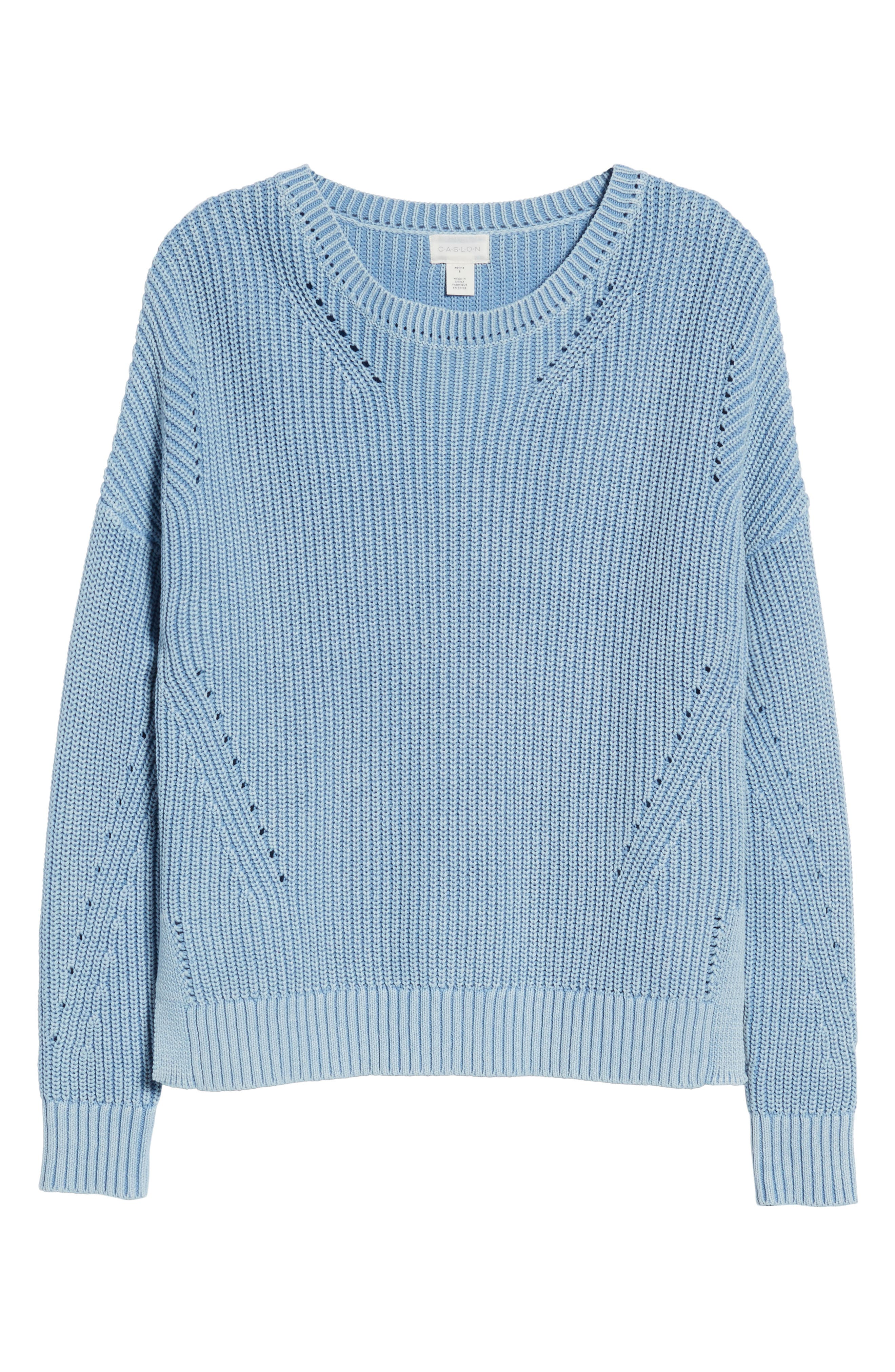 Shaker Stitch Cotton Sweater,                             Alternate thumbnail 11, color,