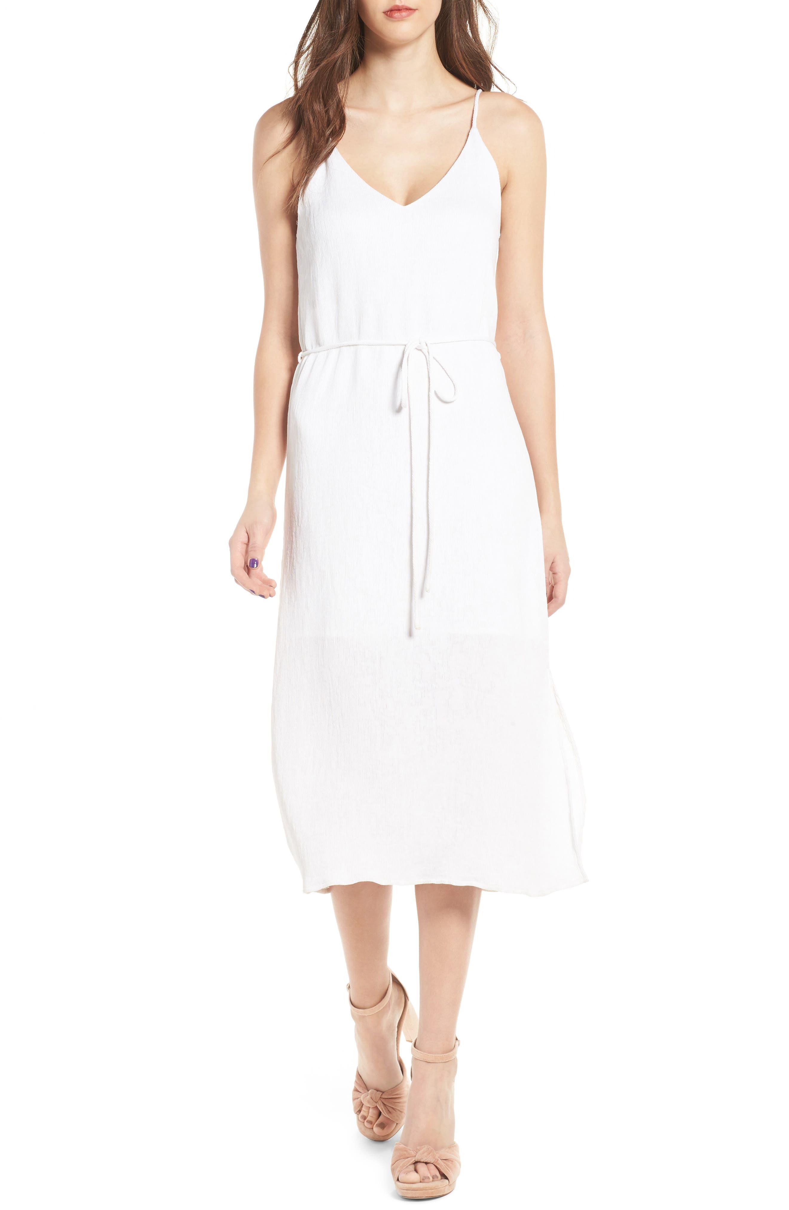 Tie Waist Midi Dress,                             Main thumbnail 1, color,