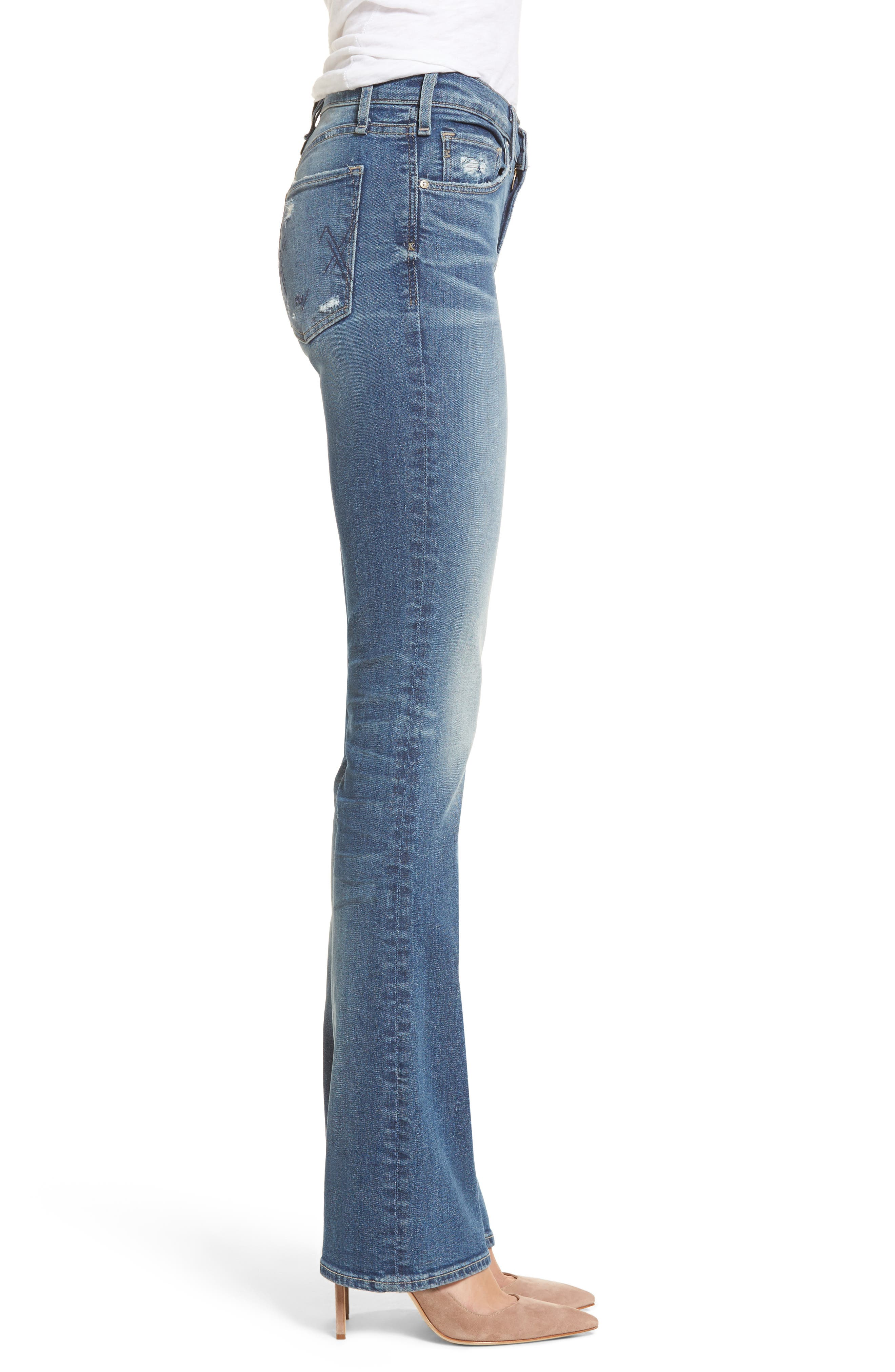 Gainsbourg High Waist Bootcut Jeans,                             Alternate thumbnail 3, color,