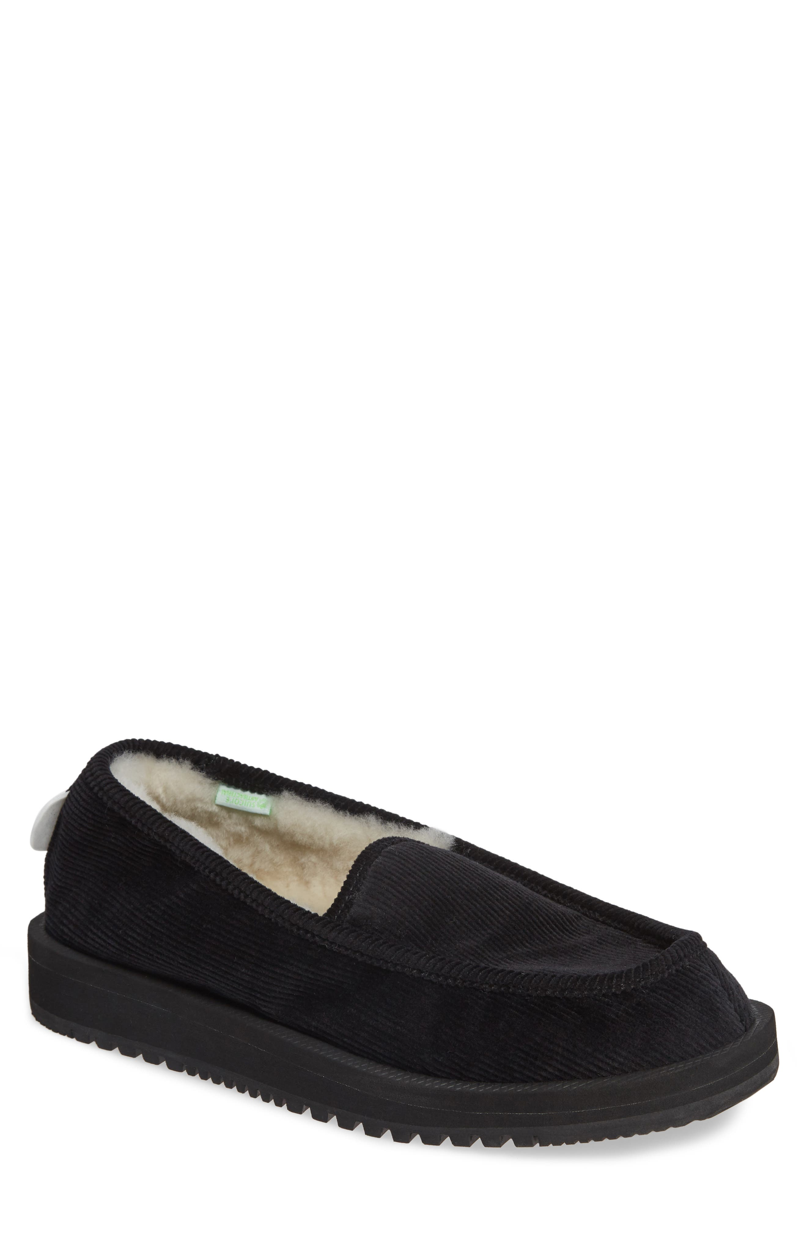Genuine Shearling Slipper,                         Main,                         color, 001