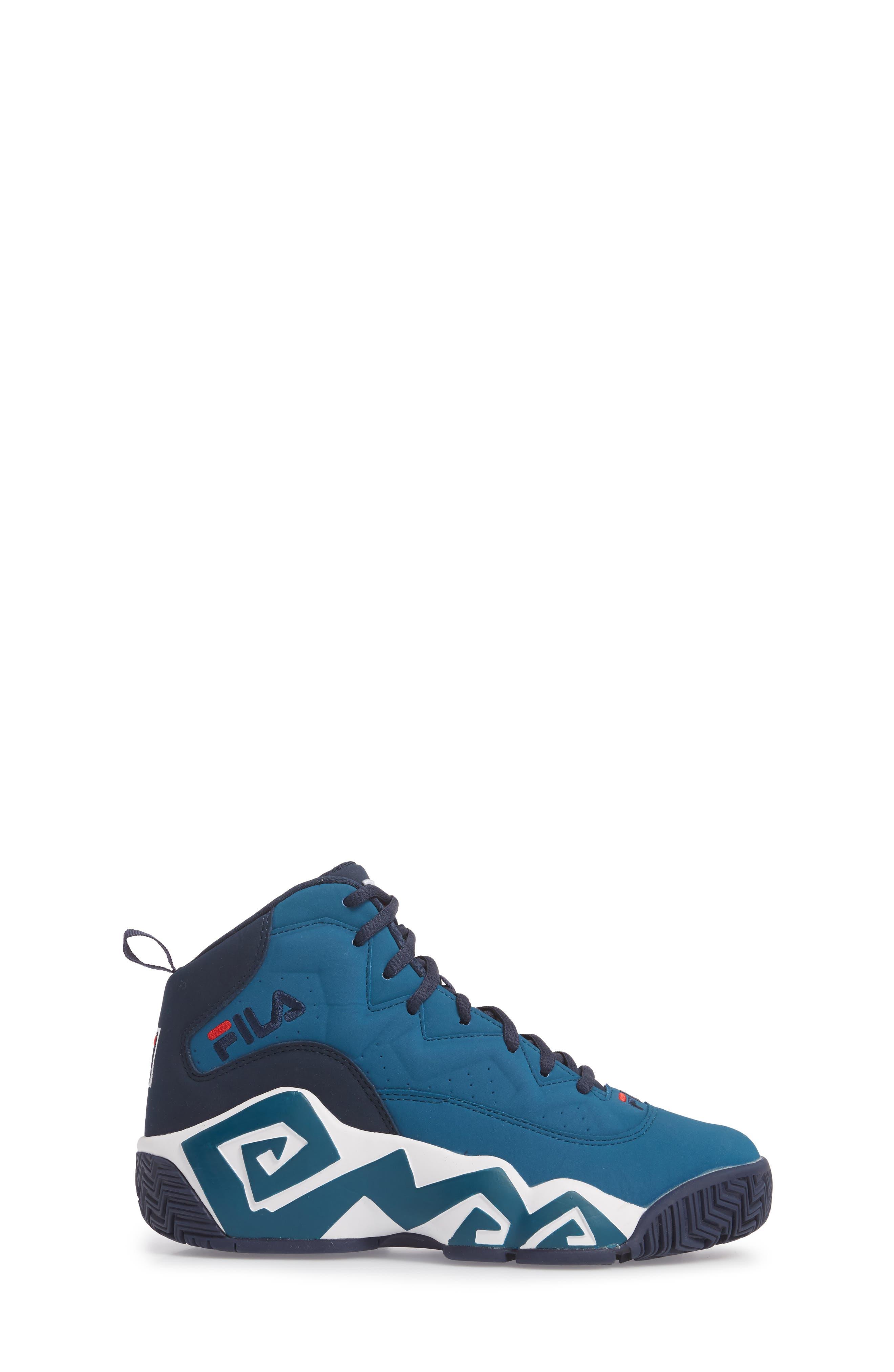 MB High Top Sneaker,                             Alternate thumbnail 3, color,                             INK BLUE/ FILA NAVY