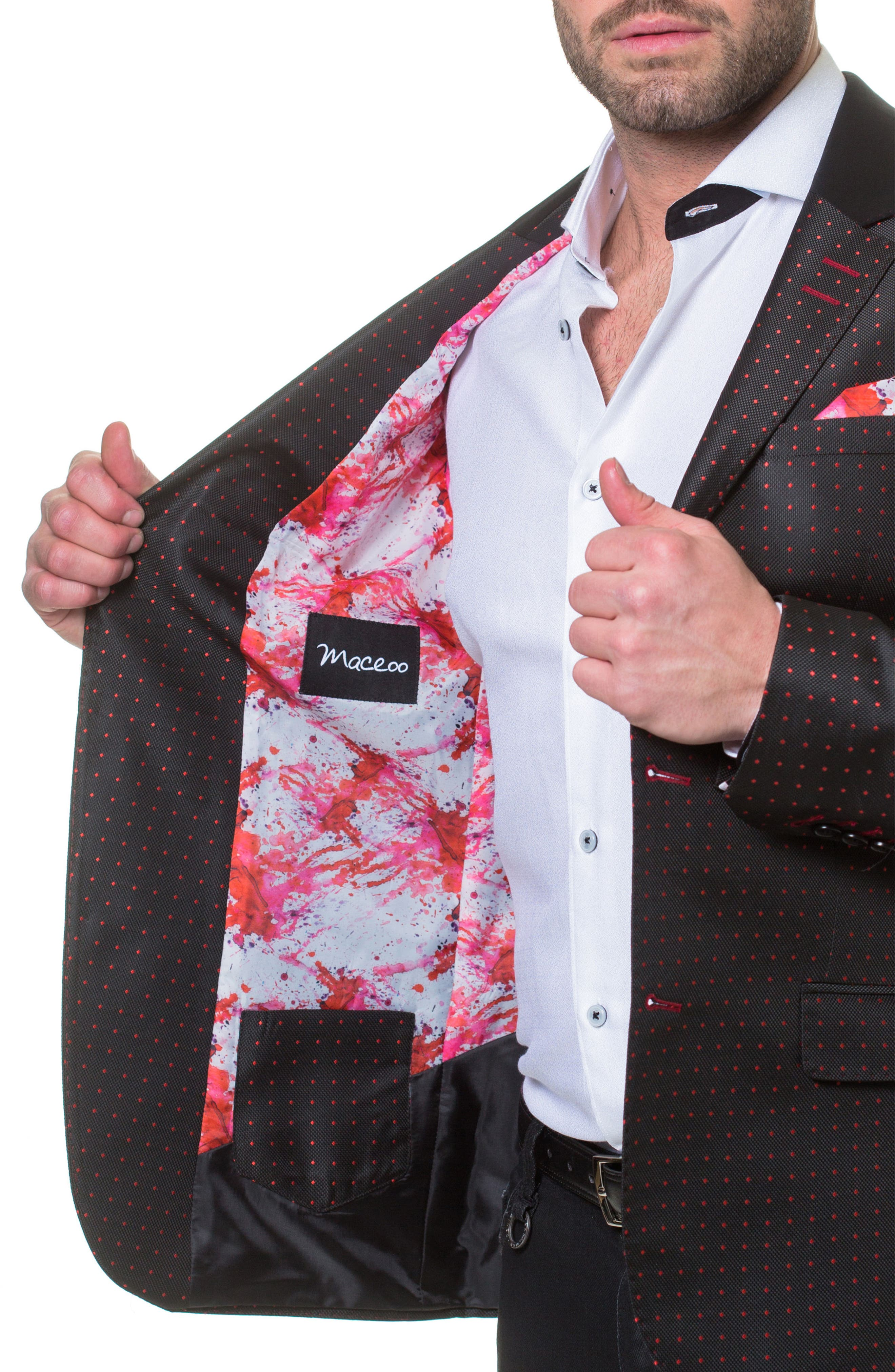 Socrate Dexter Sport Coat,                             Alternate thumbnail 3, color,                             BLACK