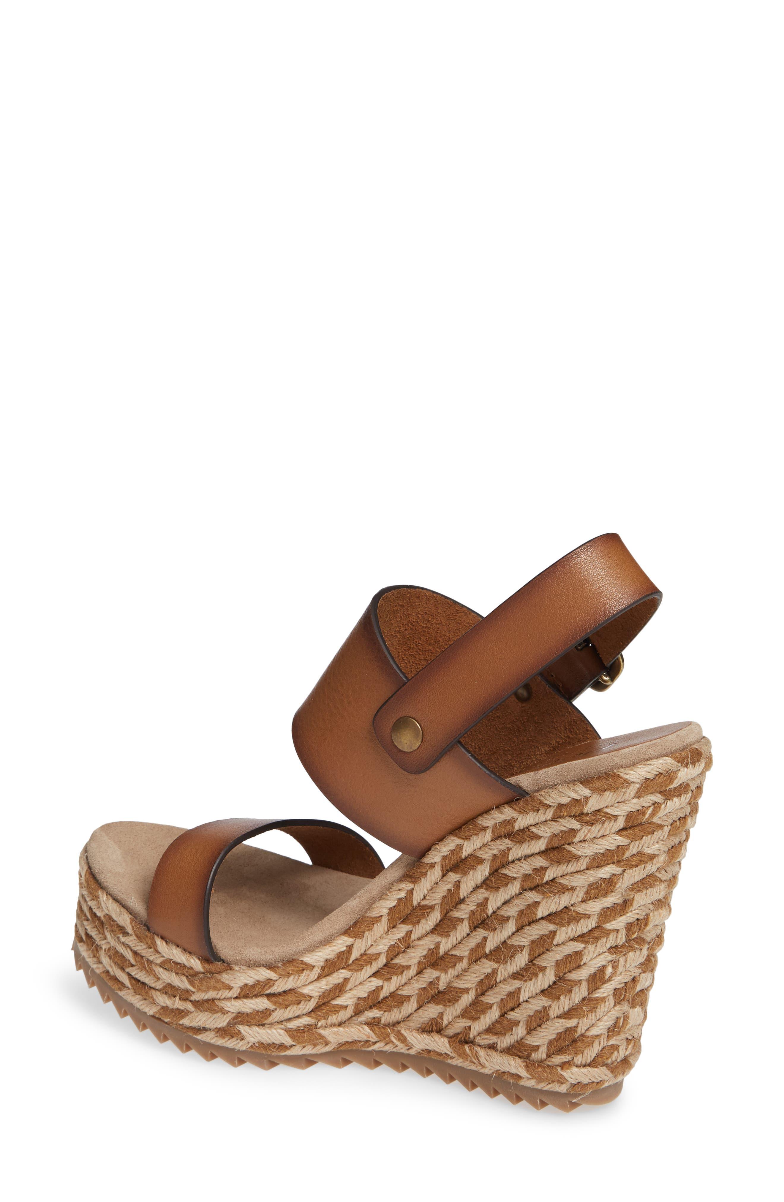Tait Woven Wedge Sandal,                             Alternate thumbnail 2, color,                             CIGAR VACCHETTA