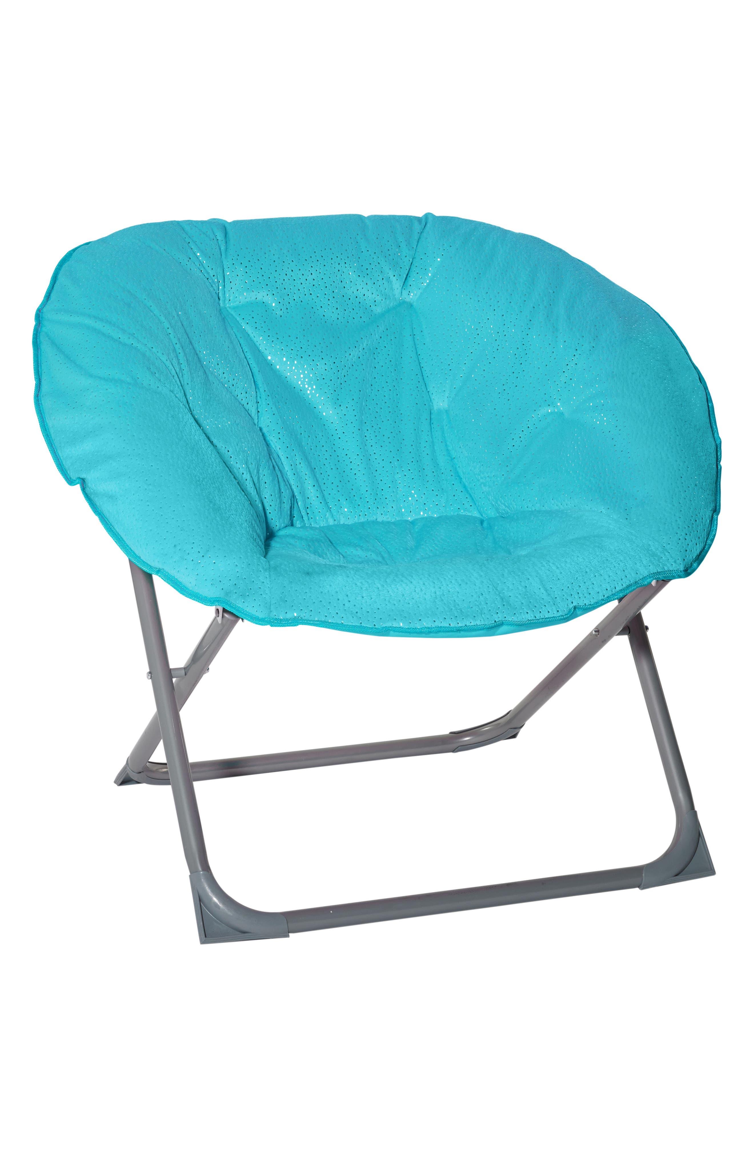 Sparkle Moon Chair,                             Alternate thumbnail 2, color,                             TURQUOISE