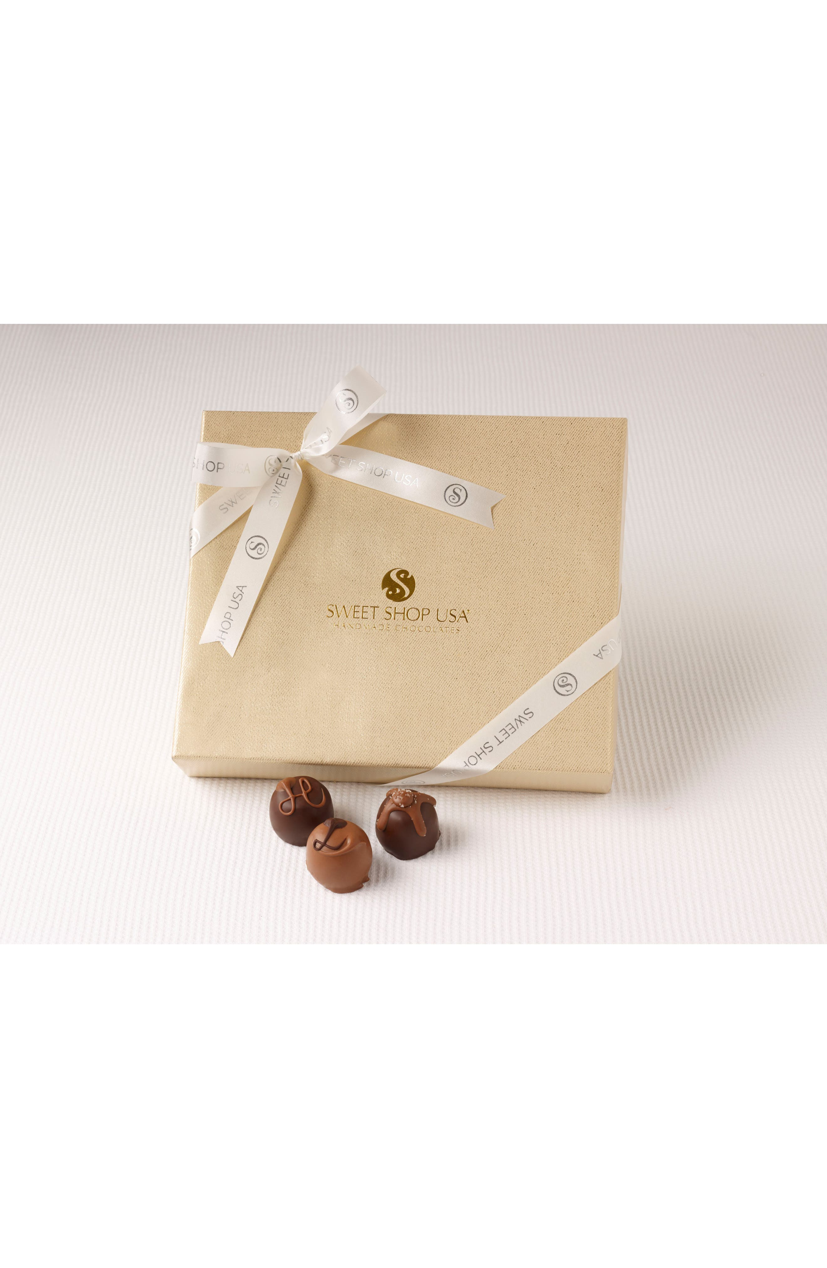 18 Piece Assorted Truffles Everyday Box,                             Main thumbnail 1, color,                             GOLD