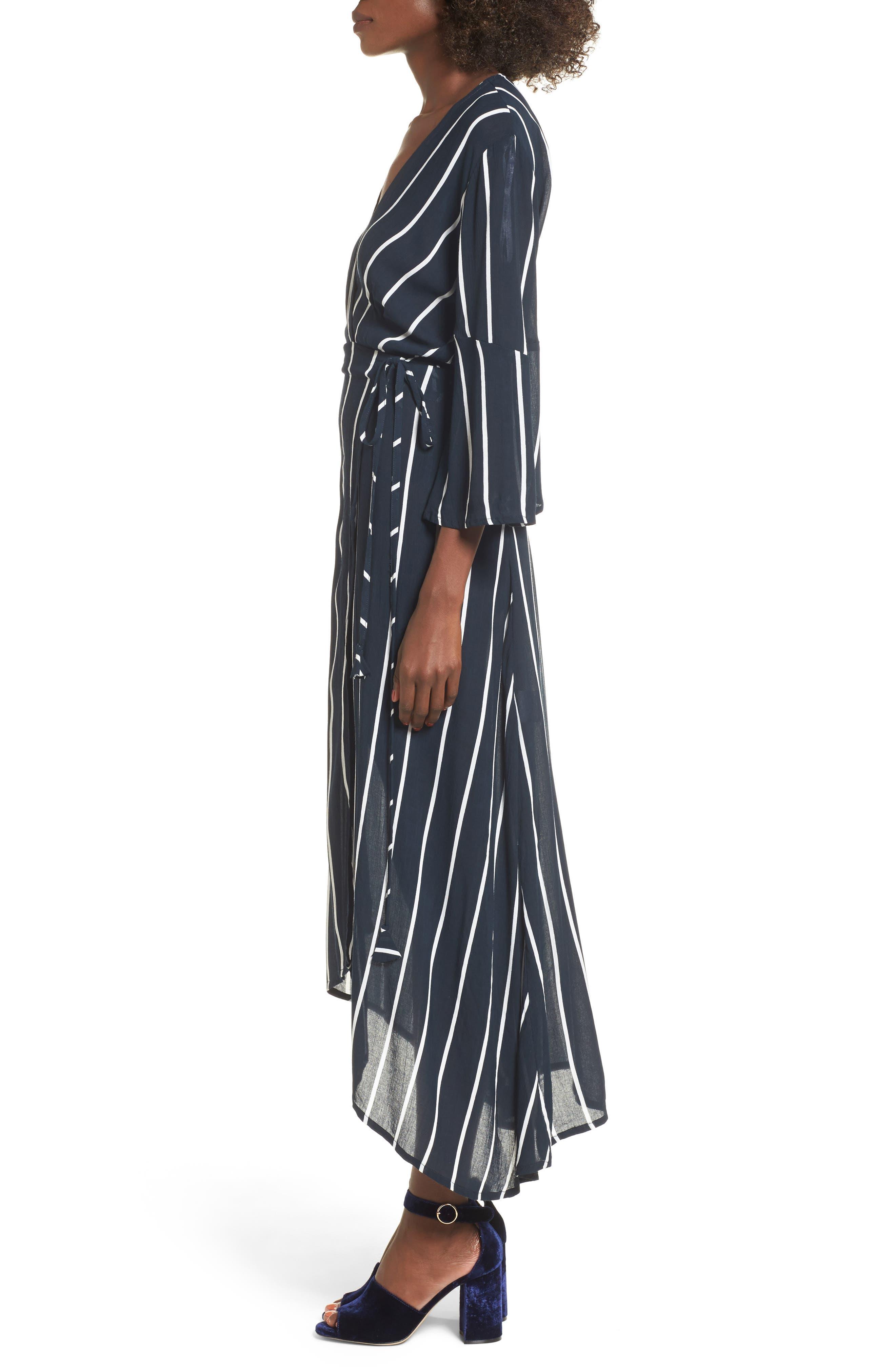 Amour Wrap Dress,                             Alternate thumbnail 3, color,                             400