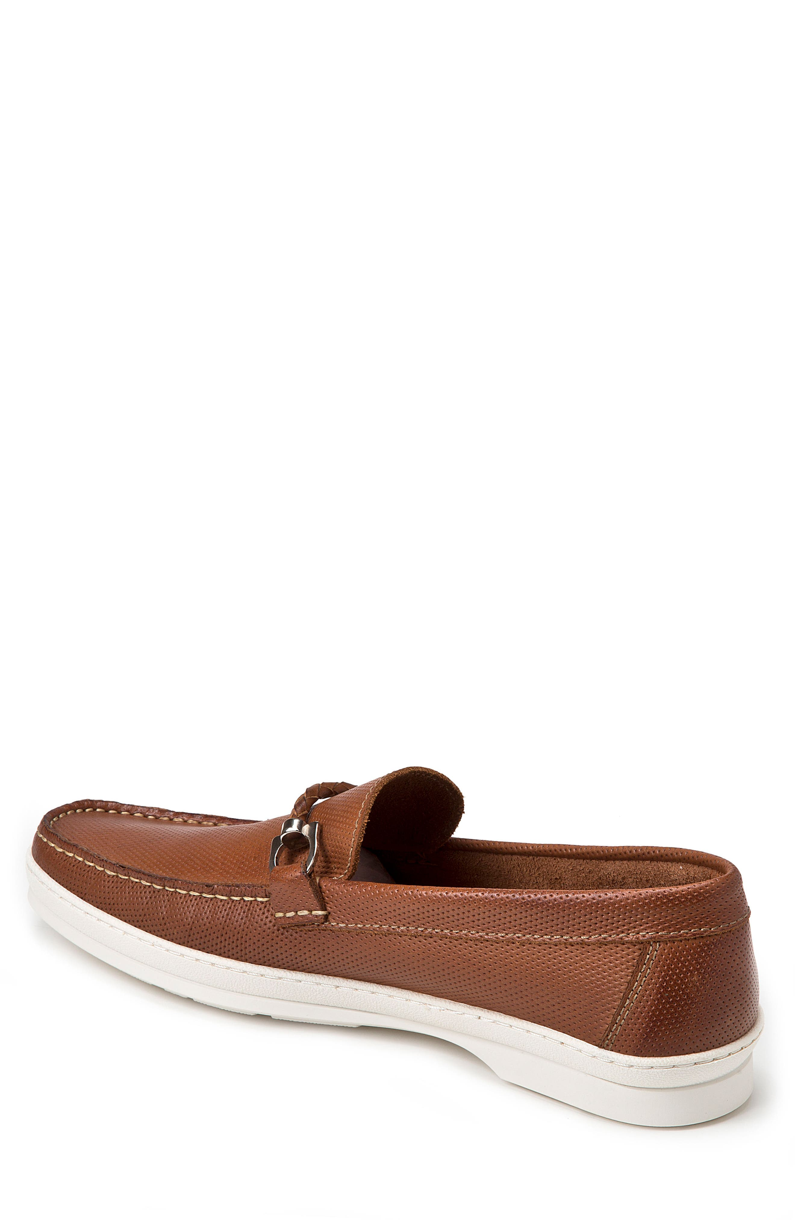 Benito Perforated Moc Toe Loafer,                             Alternate thumbnail 2, color,                             TAN LEATHER