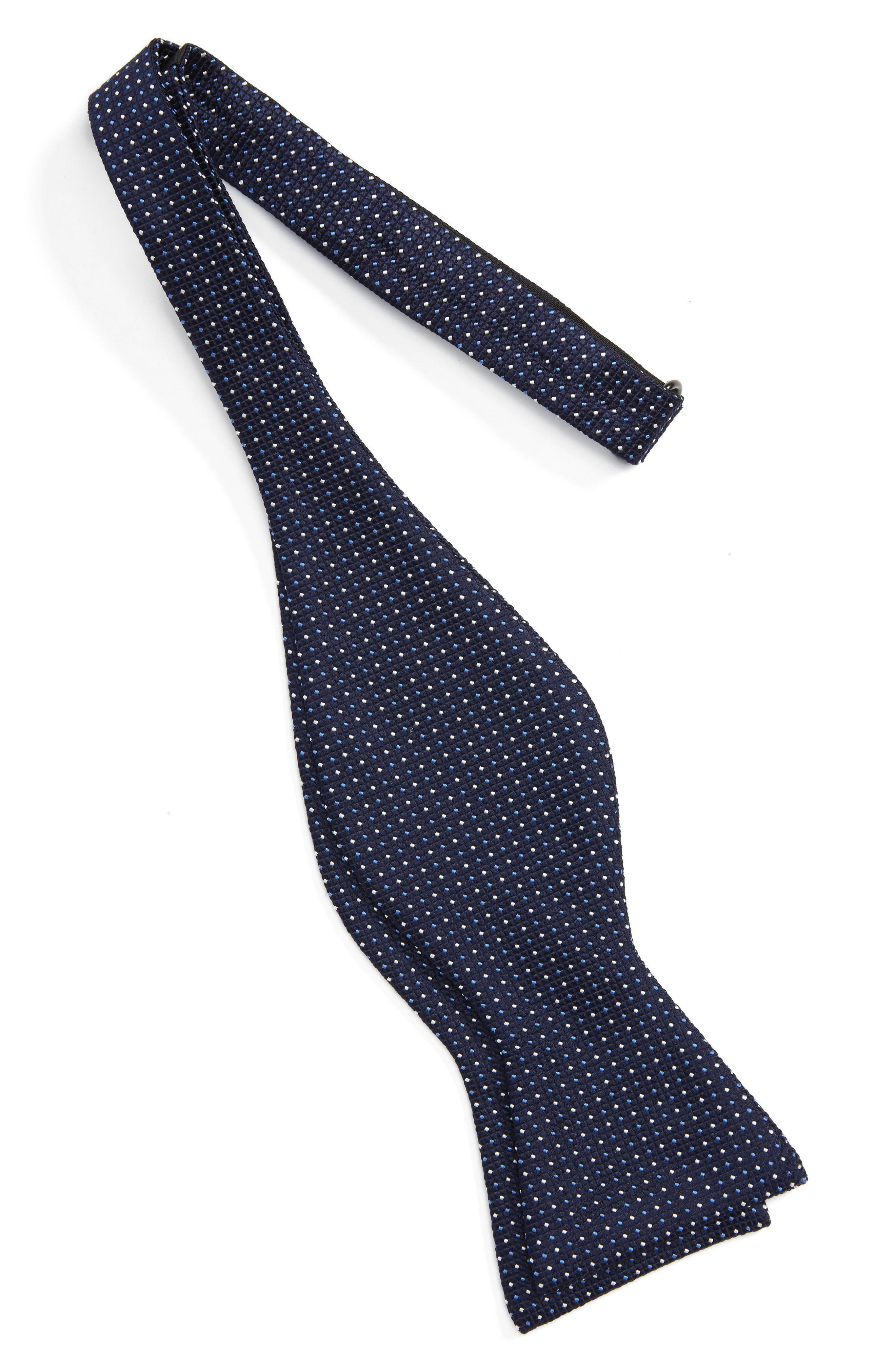 Dot Silk Bow Tie,                             Alternate thumbnail 2, color,