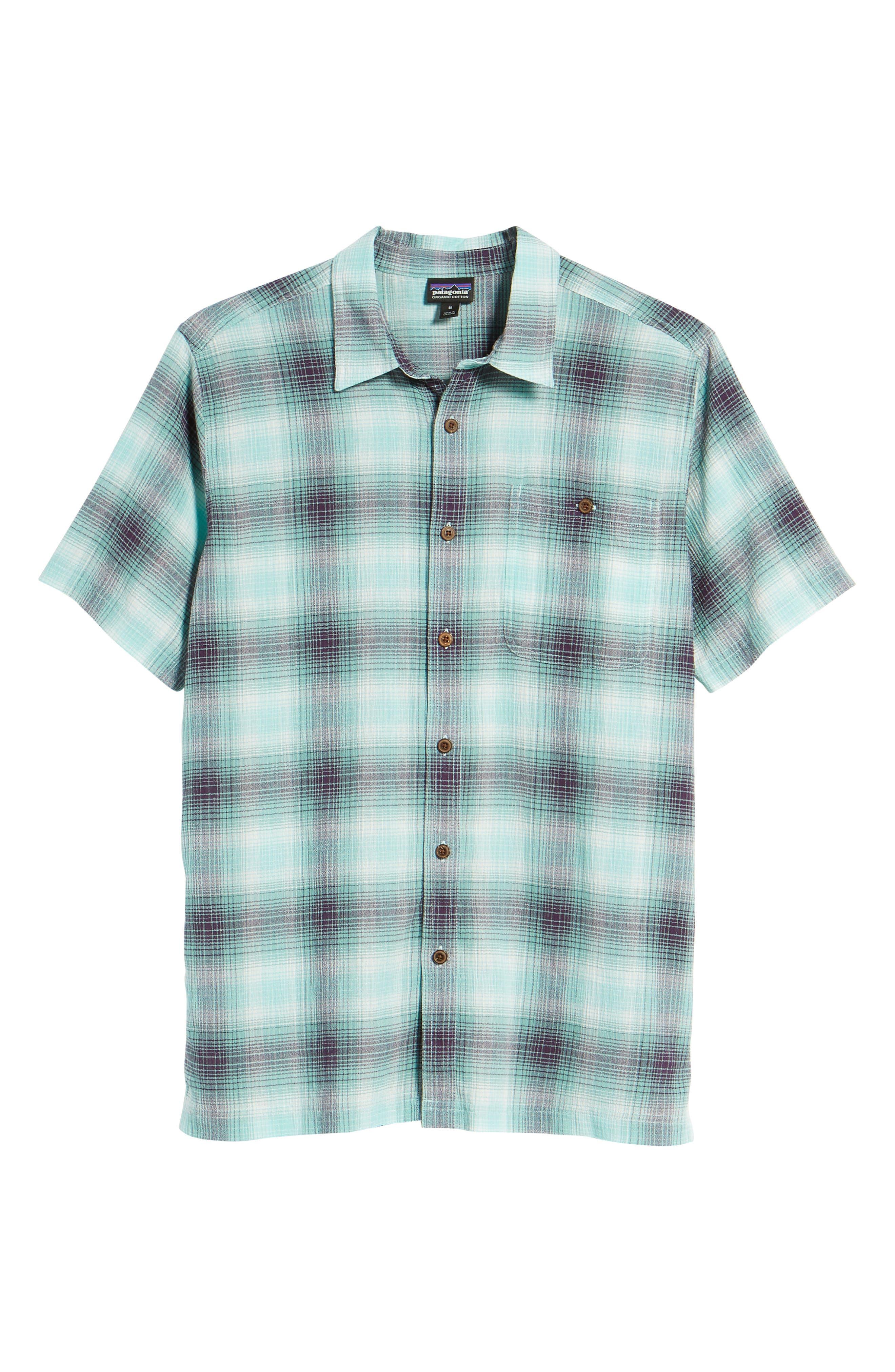'A/C<sup>®</sup>' Regular Fit Organic Cotton Short Sleeve Sport Shirt,                             Alternate thumbnail 6, color,                             COSTA/ BERYL GREEN