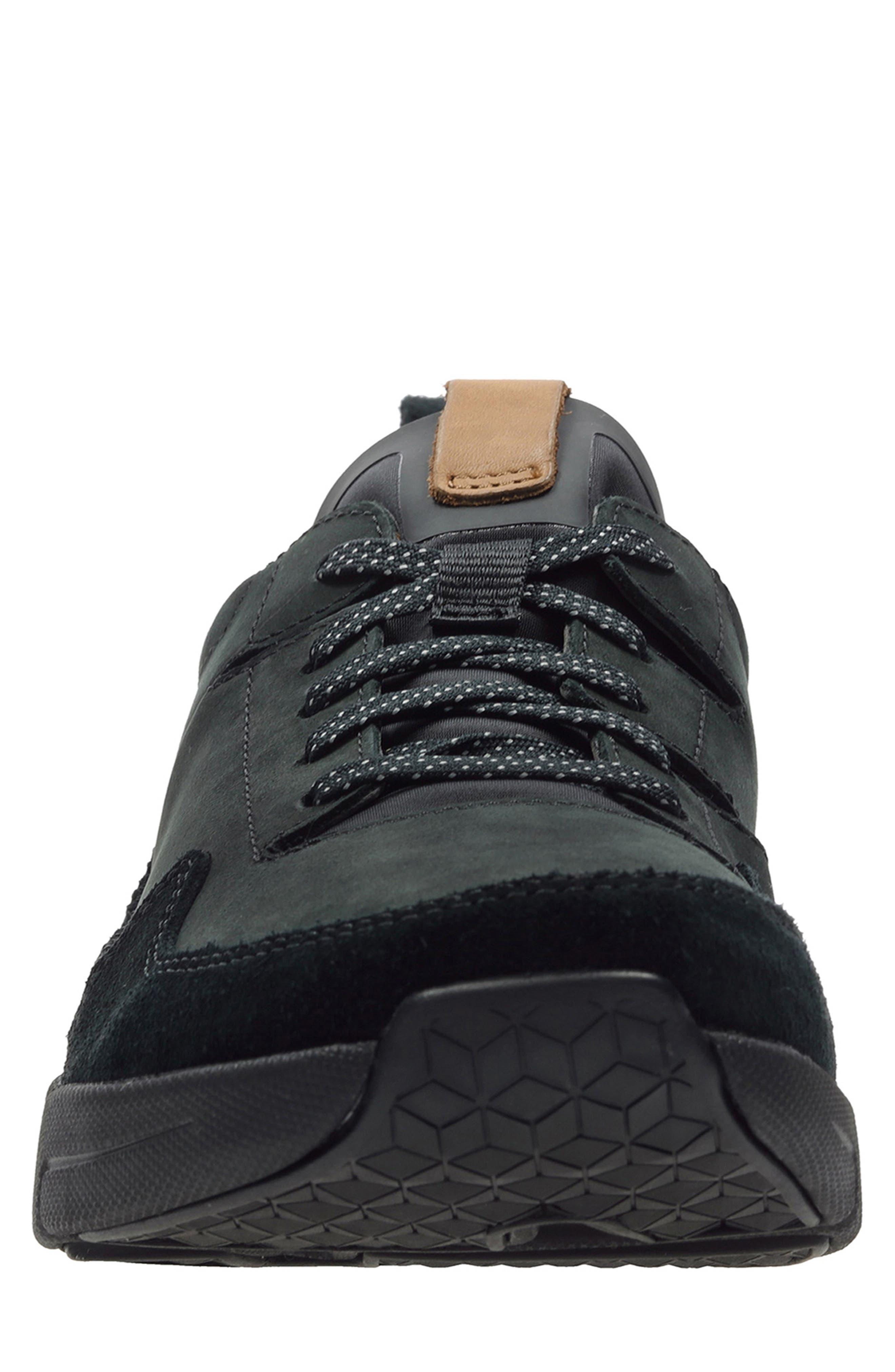 Tri-Active Run Sneaker,                             Alternate thumbnail 3, color,                             BLACK LEATHER