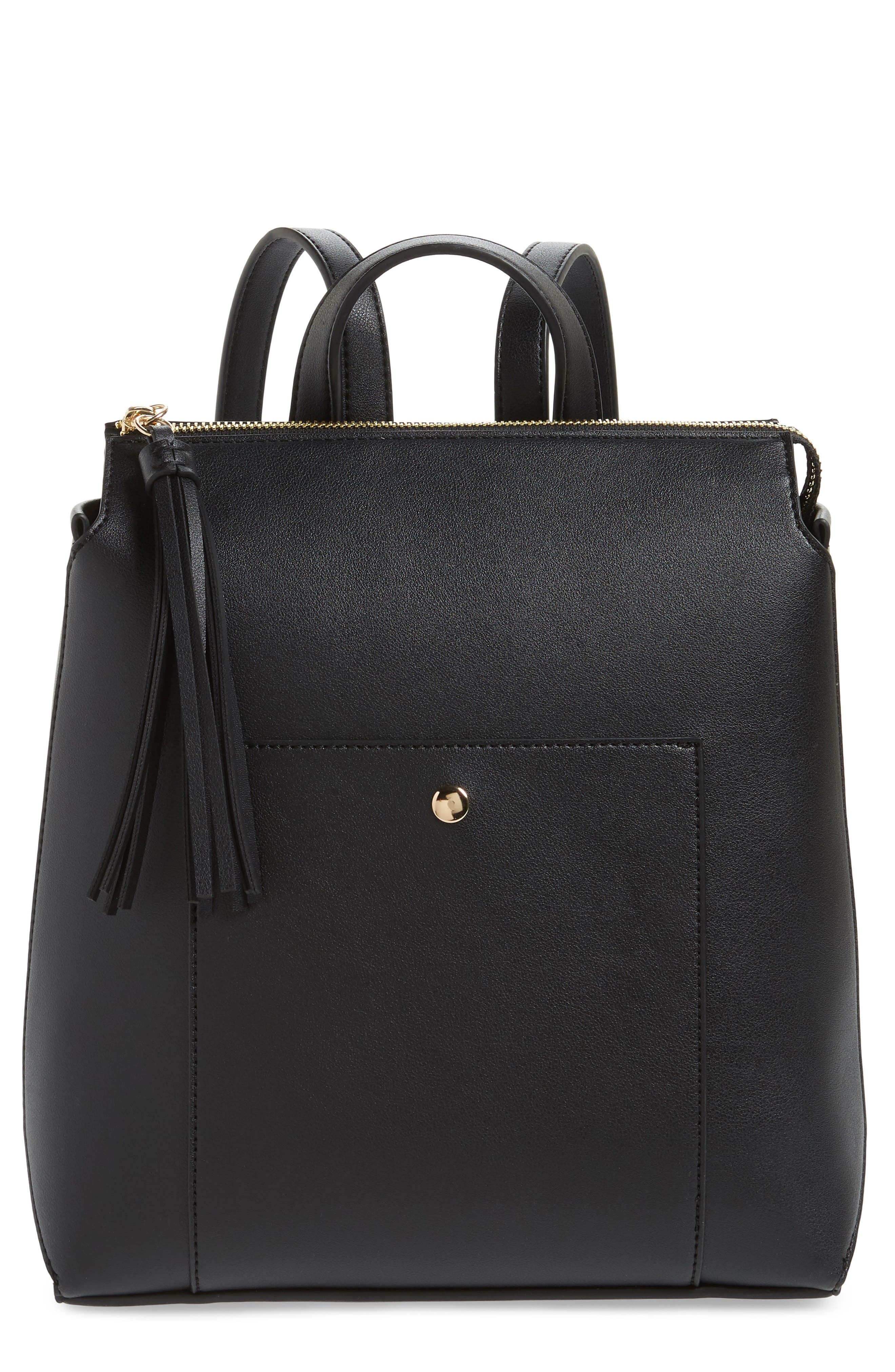 Fluri Faux Leather Backpack,                         Main,                         color, 001