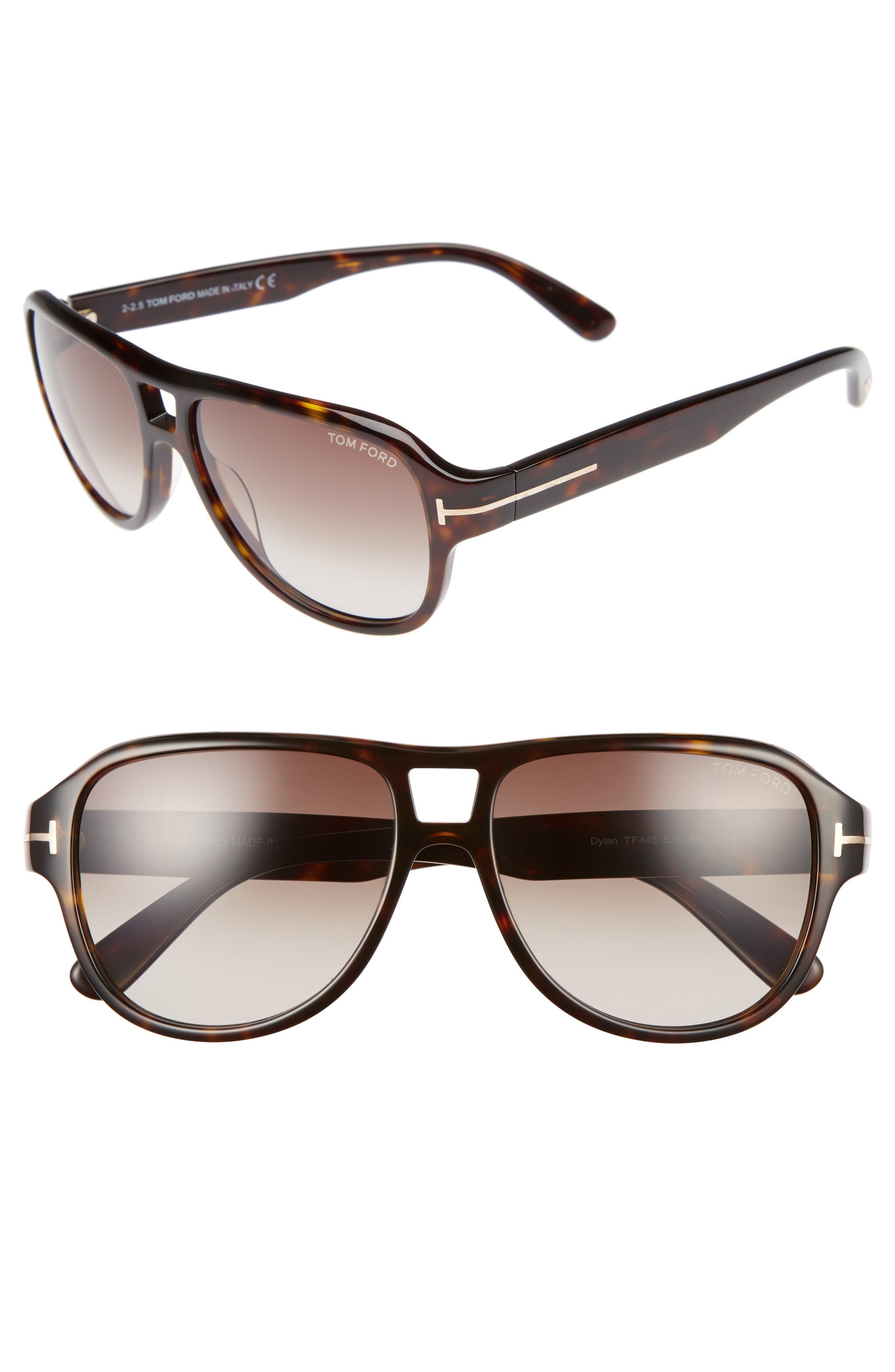 Philippa 55mm Gradient Round Aviator Sunglasses,                         Main,                         color, 001