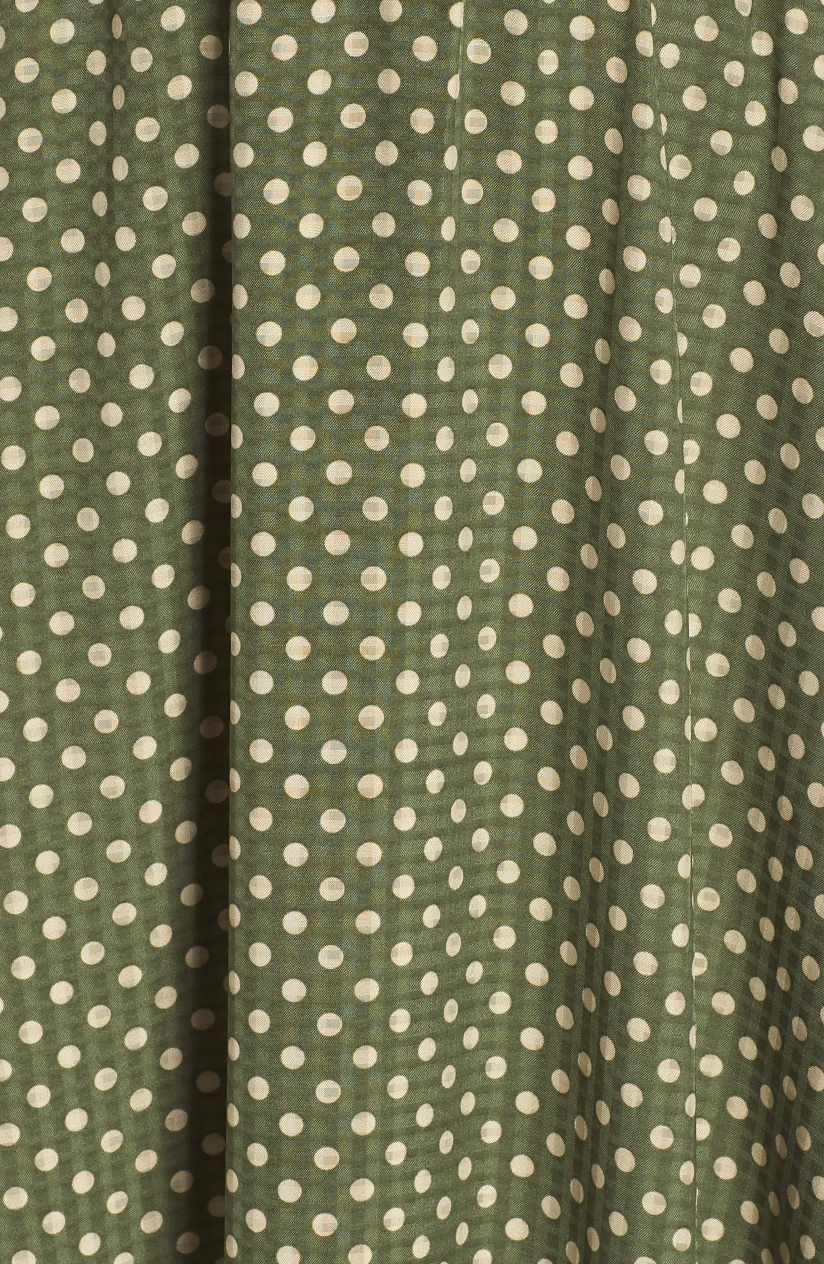 Polka Dot Halter Dress,                             Alternate thumbnail 6, color,                             350