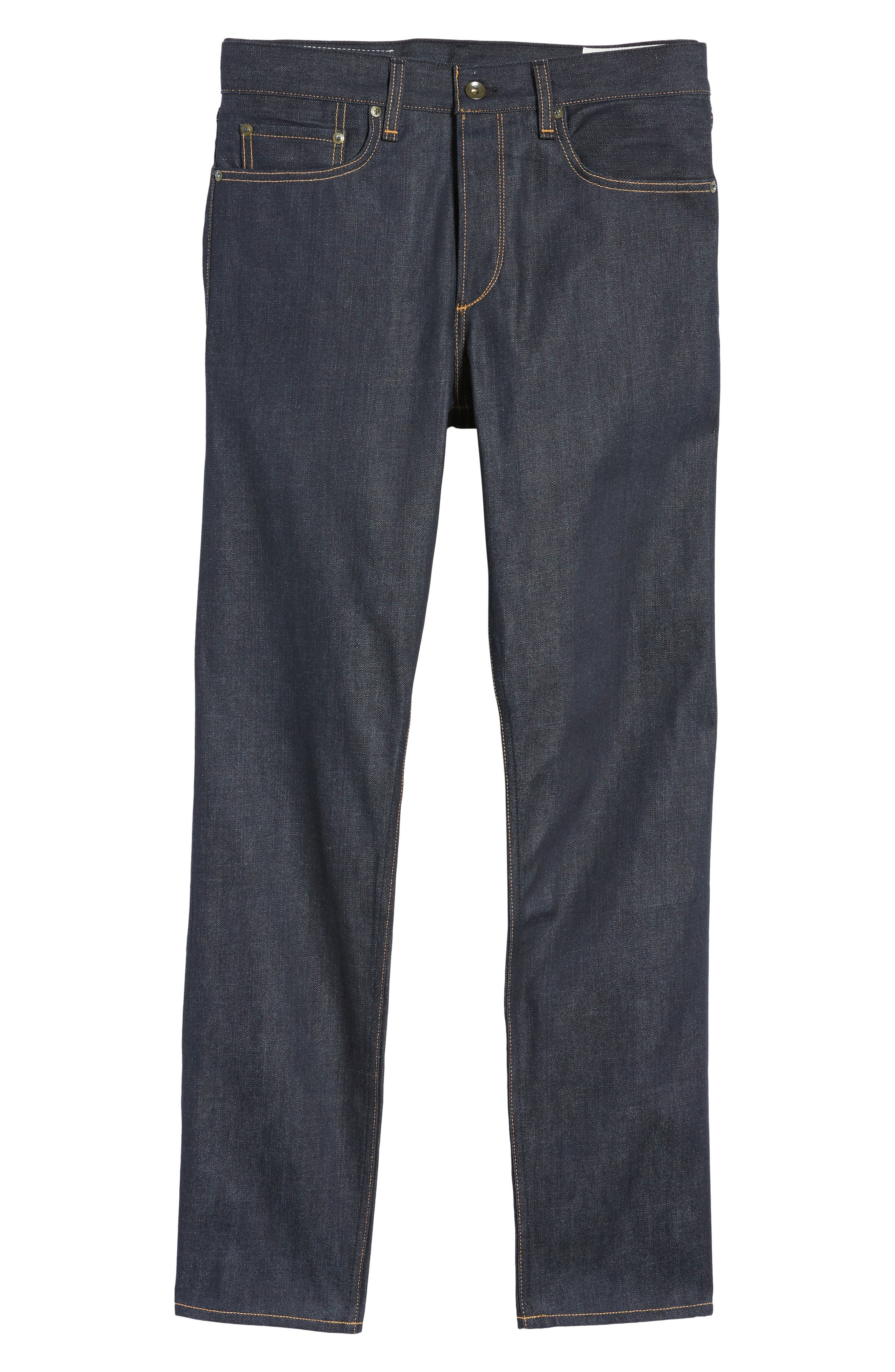 RAG & BONE Standard Issue Fit 2 Slim Fit Raw Selvedge Jeans, Main, color, 419