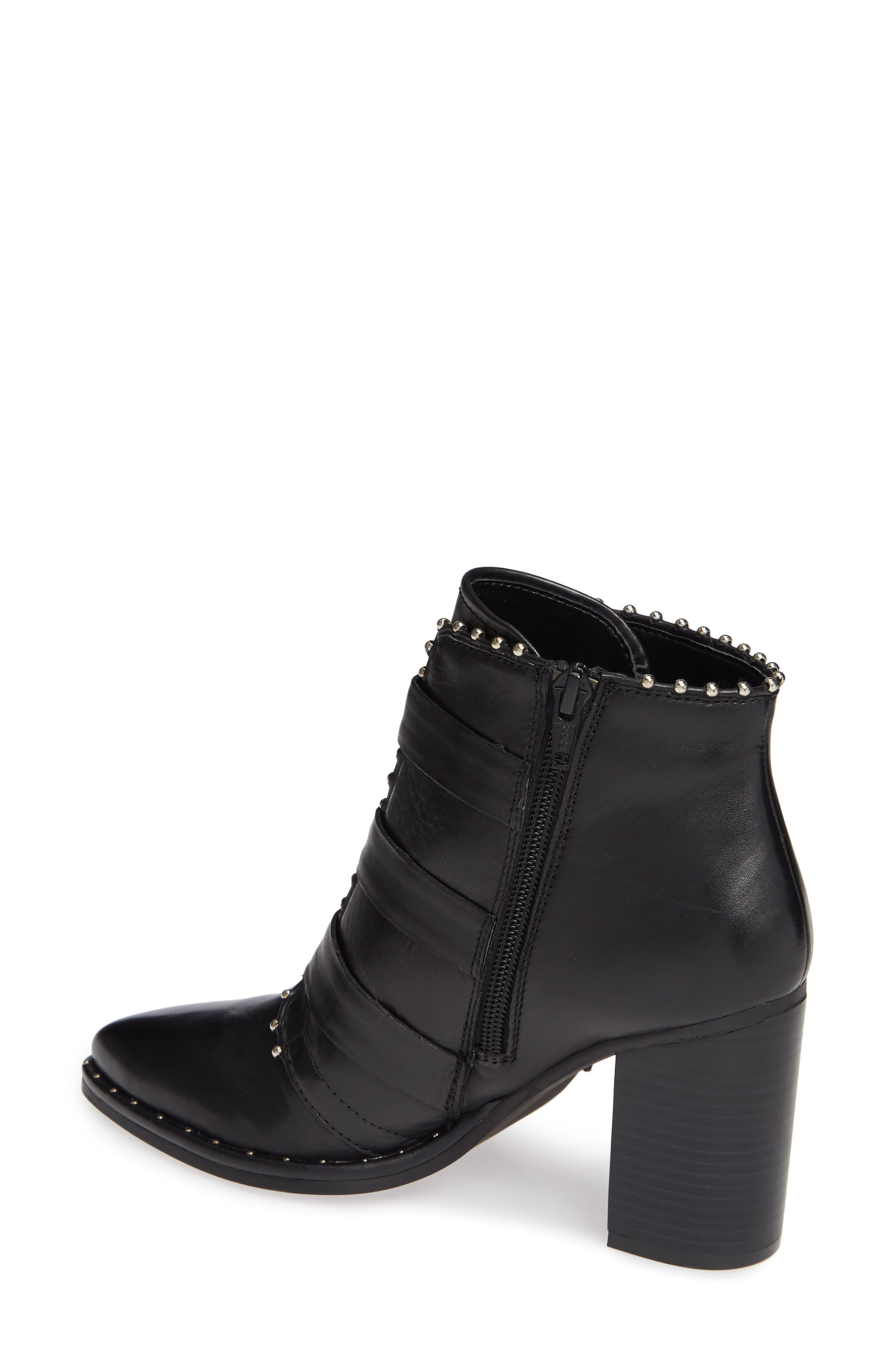 Humble Bootie,                             Alternate thumbnail 2, color,                             BLACK LEATHER