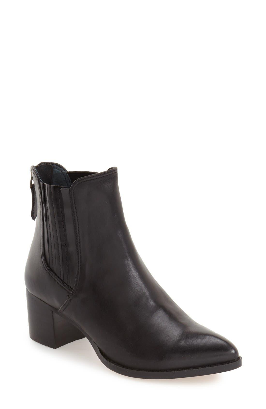 HALOGEN<SUP>®</SUP> 'Bailey' Pointy Toe Block Heel Bootie, Main, color, 001