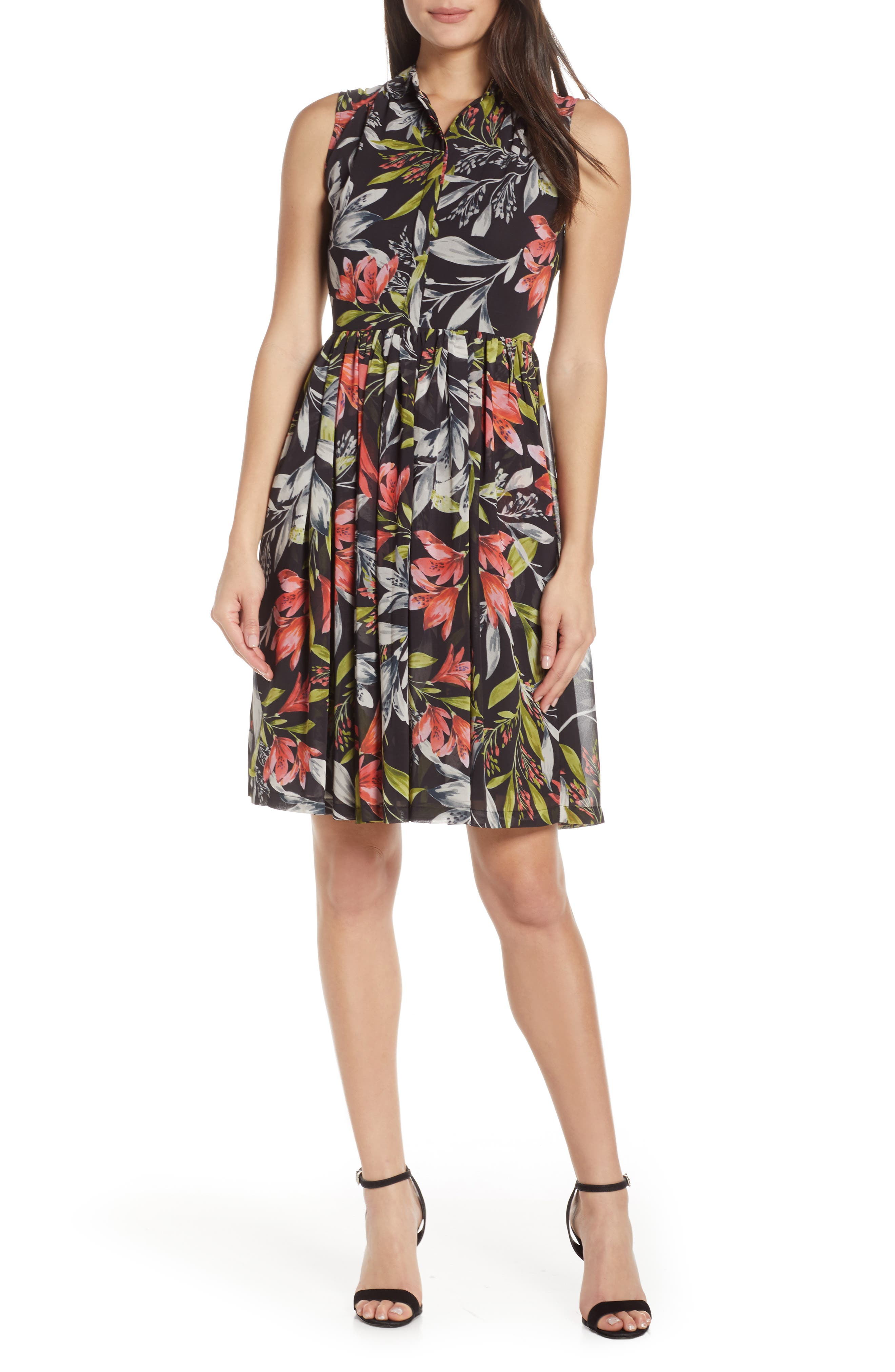 French Connection Cadencia Dress, Black