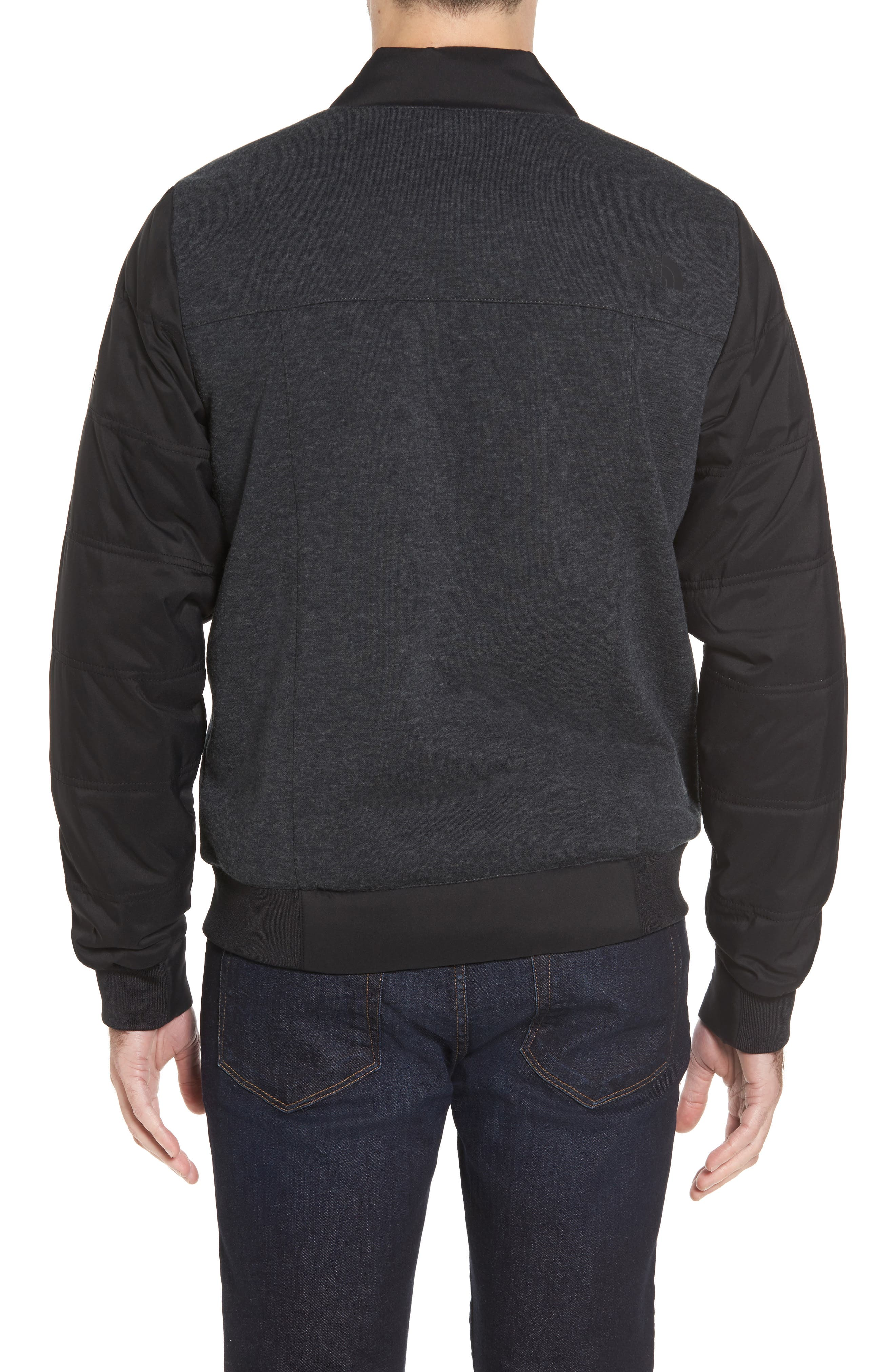 Far Northern Hybrid Bomber Jacket,                             Alternate thumbnail 2, color,                             DARK GREY HEATHER/ BLACK