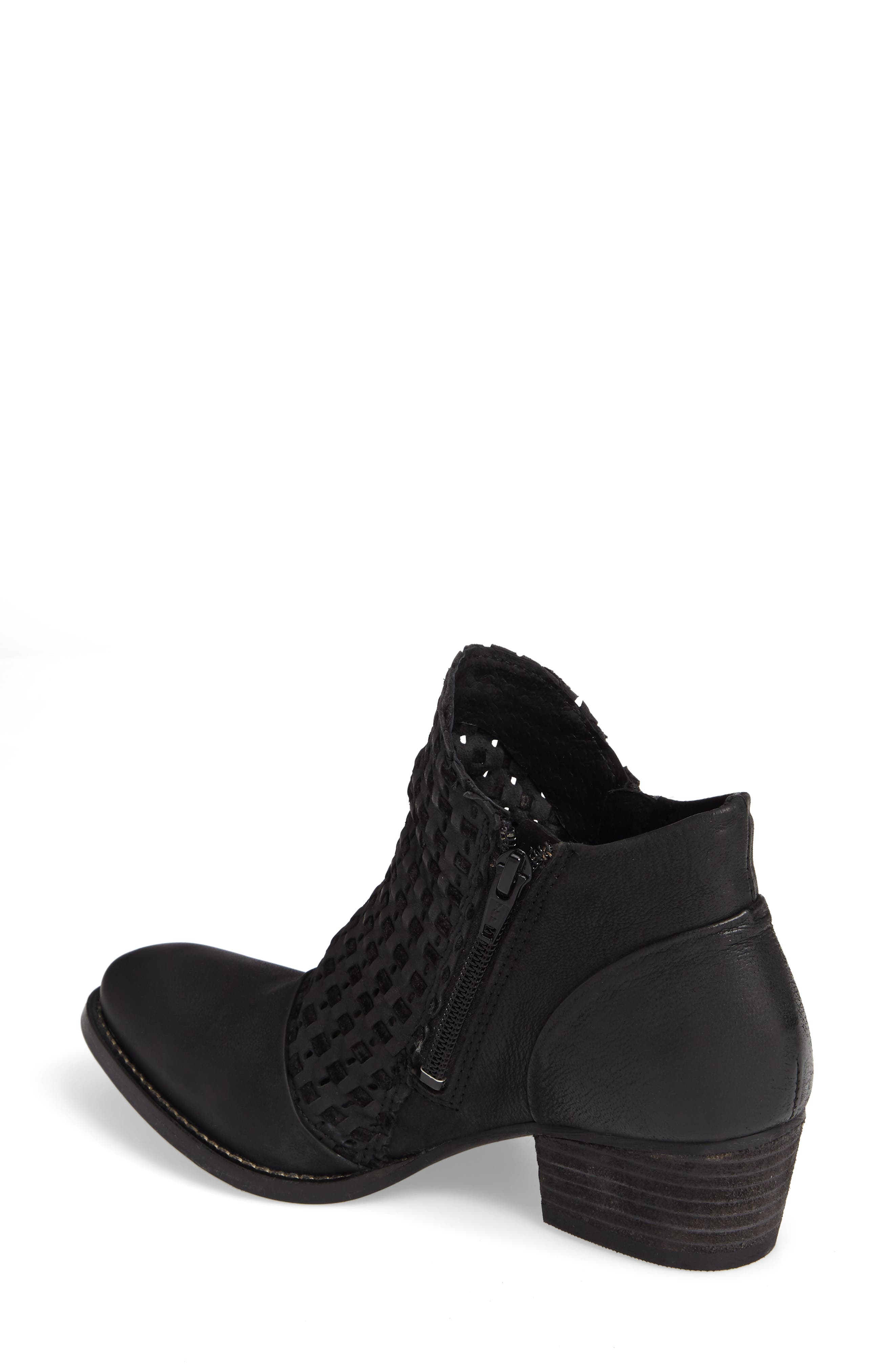 Ravi Perforated Woven Bootie,                             Alternate thumbnail 3, color,