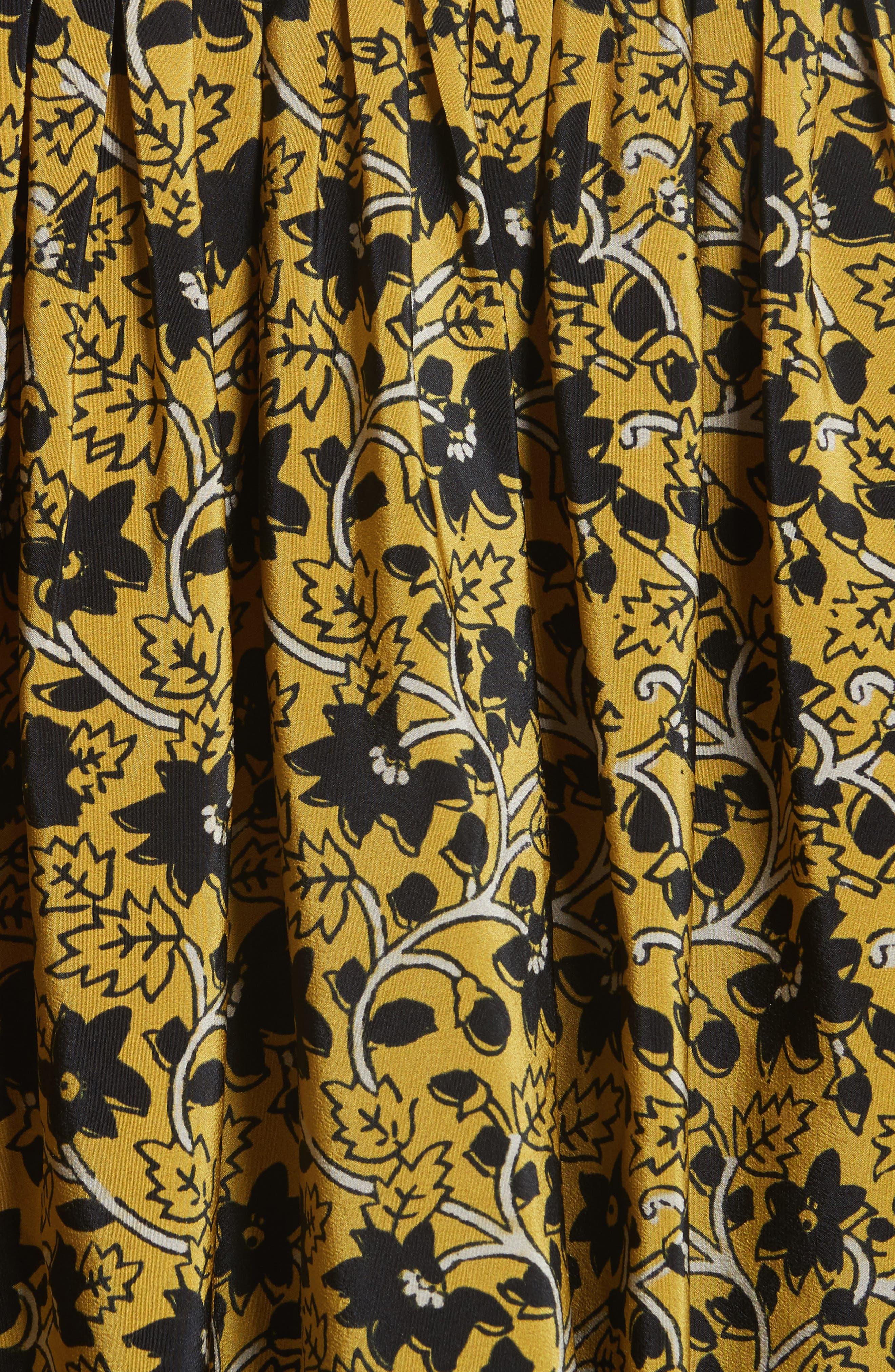 Lace Bib Print Silk Blouse,                             Alternate thumbnail 5, color,                             700