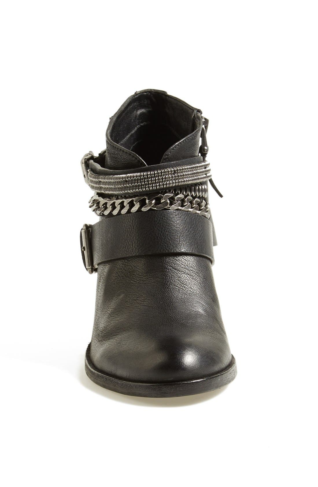 'Yazmina' Leather Bootie,                             Alternate thumbnail 3, color,                             019