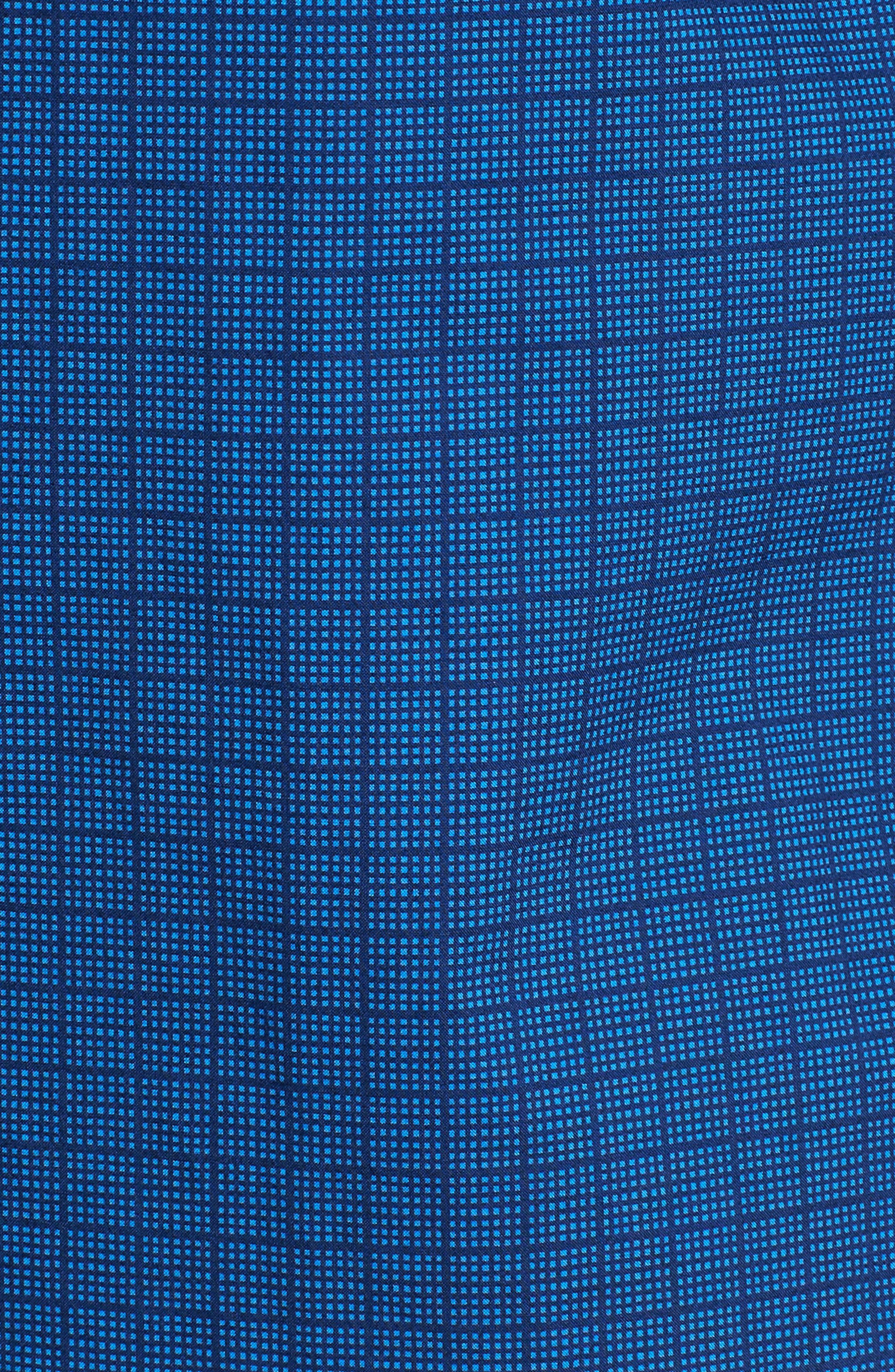 Harper Regular Fit Tile Print Sport Shirt,                             Alternate thumbnail 5, color,                             NAVY