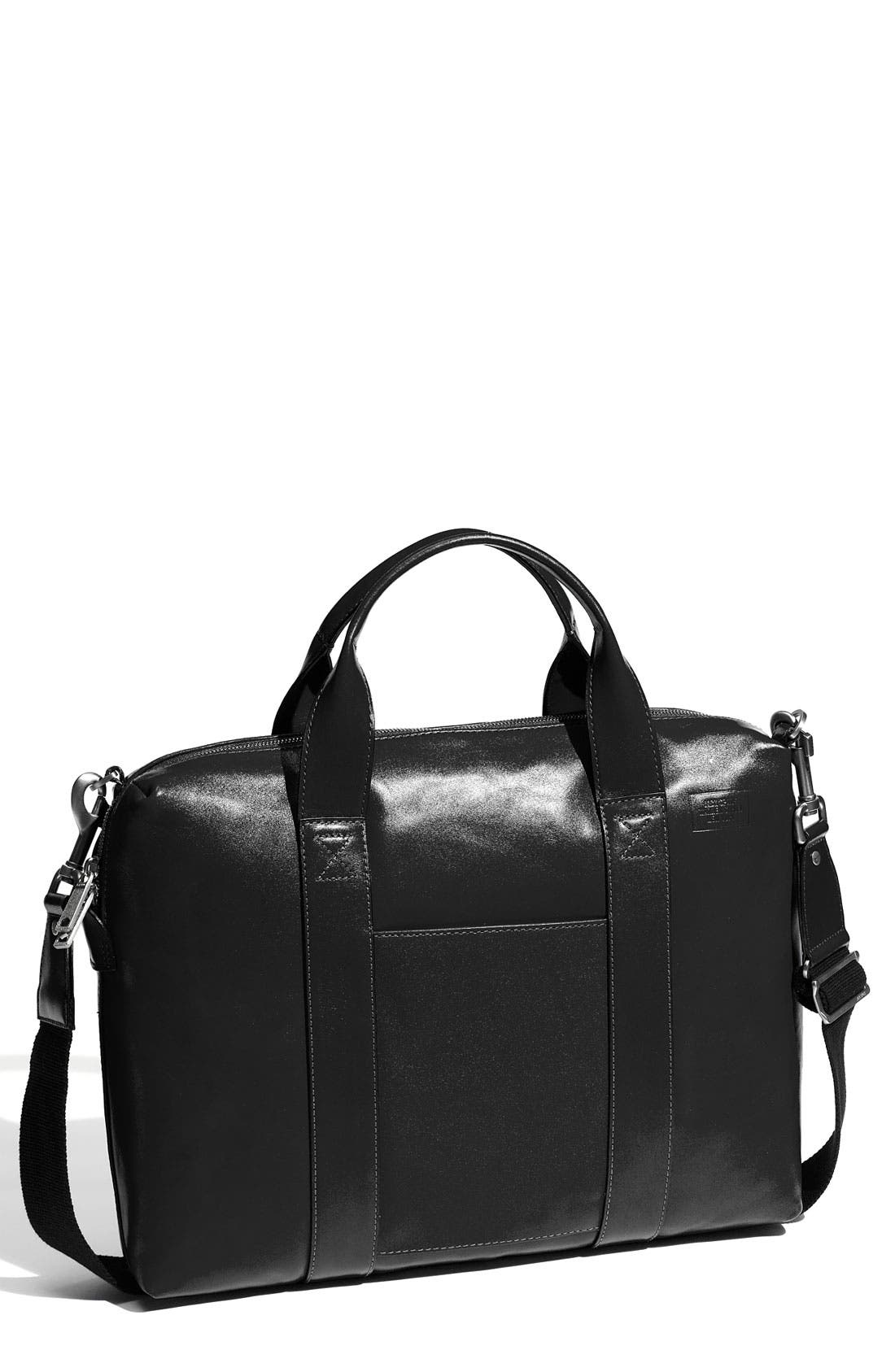'Davis' Leather Briefcase,                         Main,                         color, 001