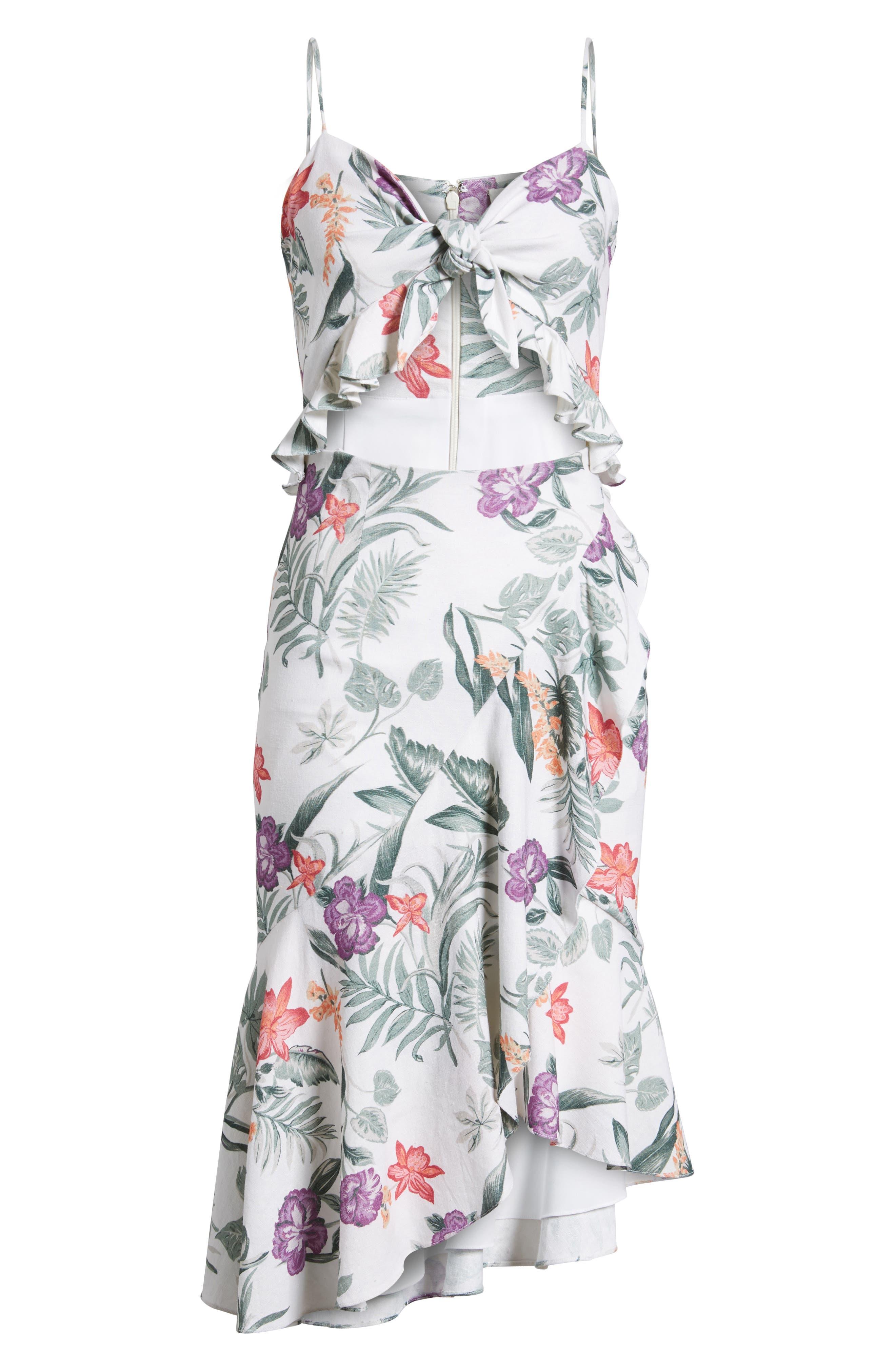 Mahari Cutout Midi Dress,                             Alternate thumbnail 7, color,                             900