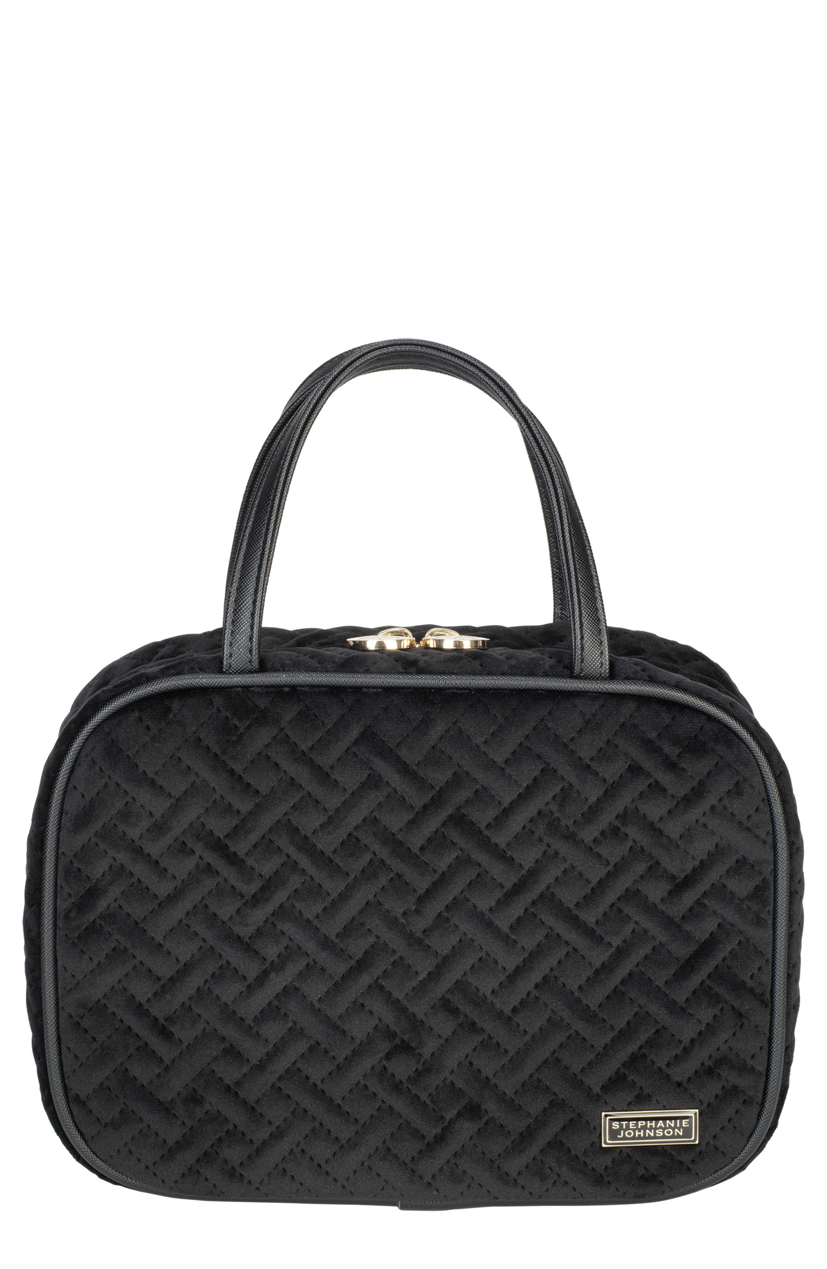 STEPHANIE JOHNSON Milan Black Ml Traveler Cosmetics Case