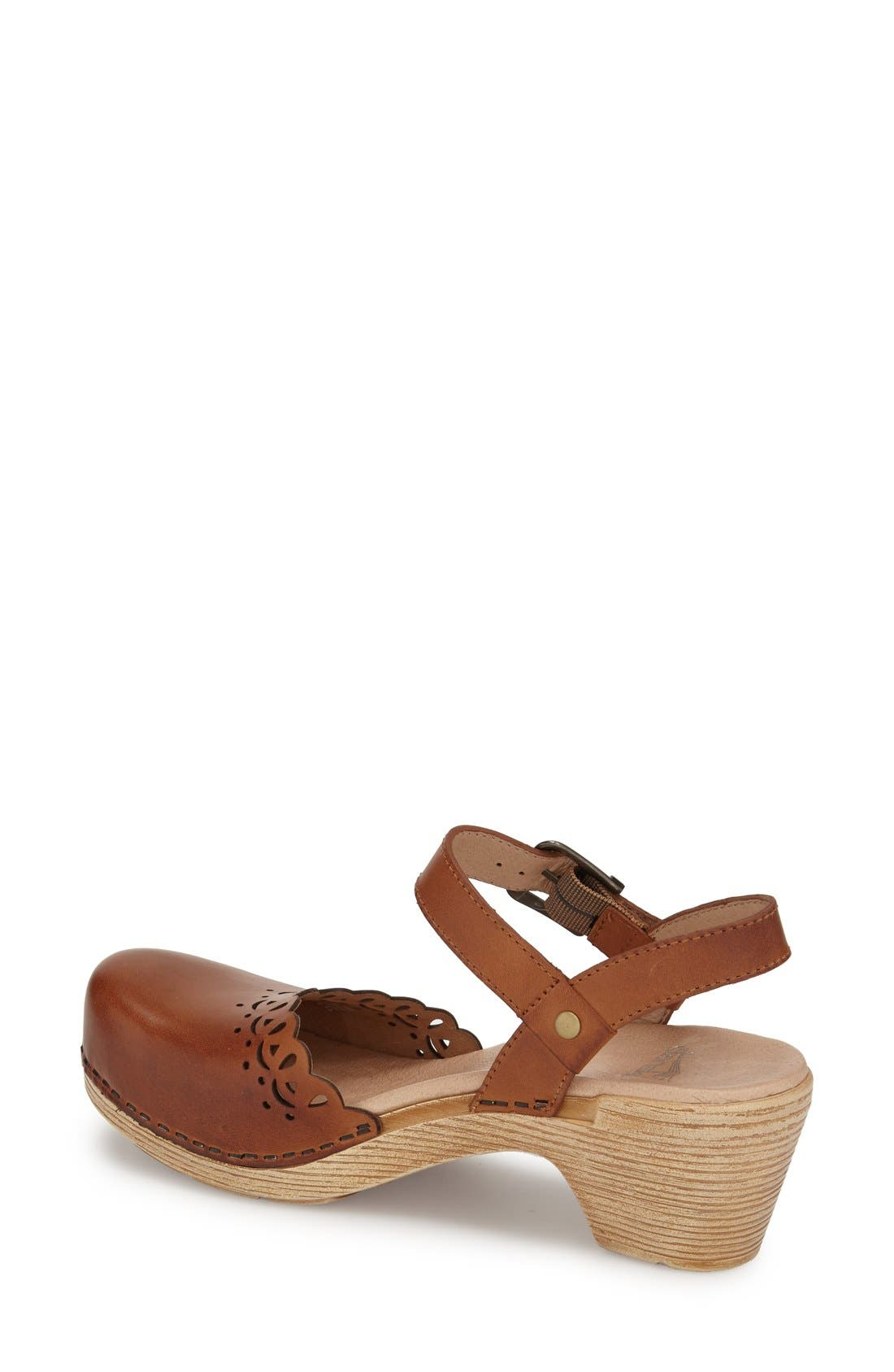 'Marta' Ankle Strap Clog,                             Alternate thumbnail 7, color,