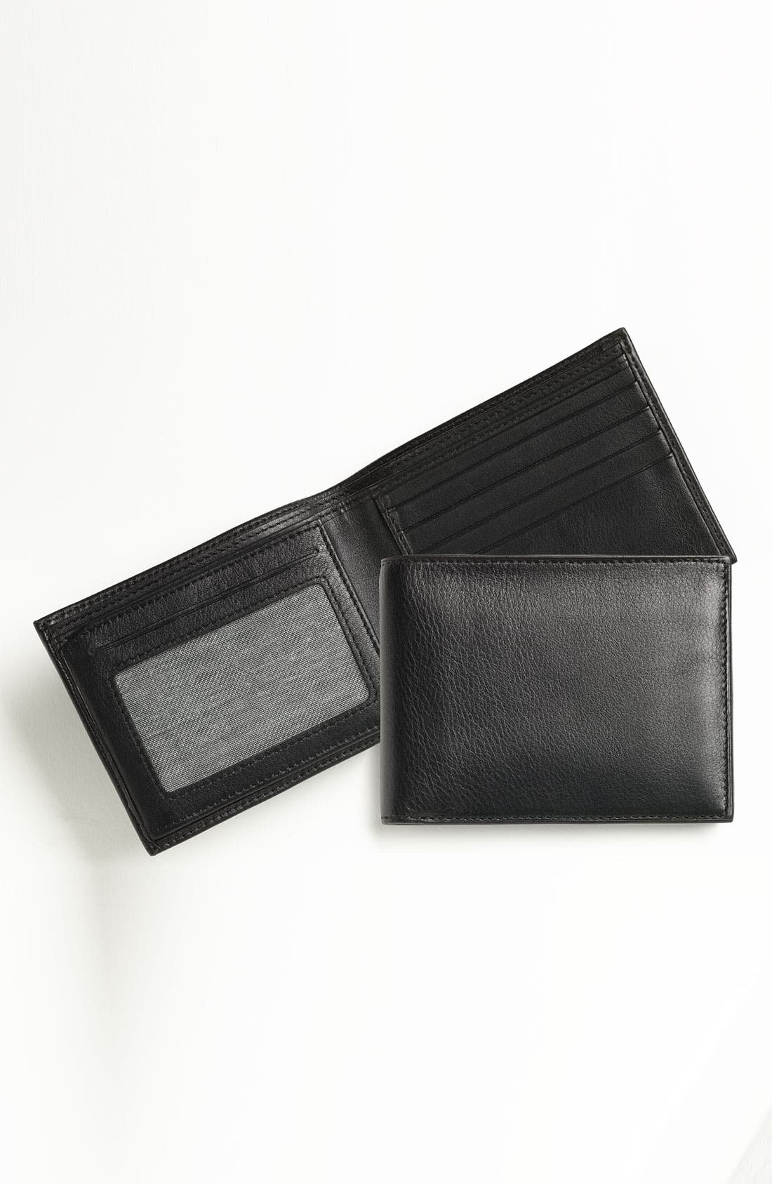 ID Flap Leather Wallet,                             Main thumbnail 3, color,