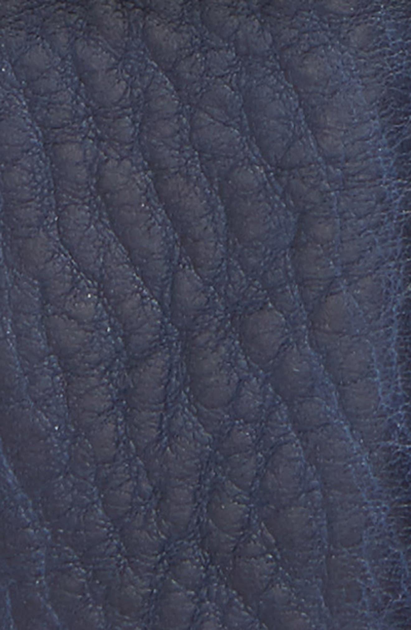 Cubes Leather Belt,                             Alternate thumbnail 2, color,                             NAVY