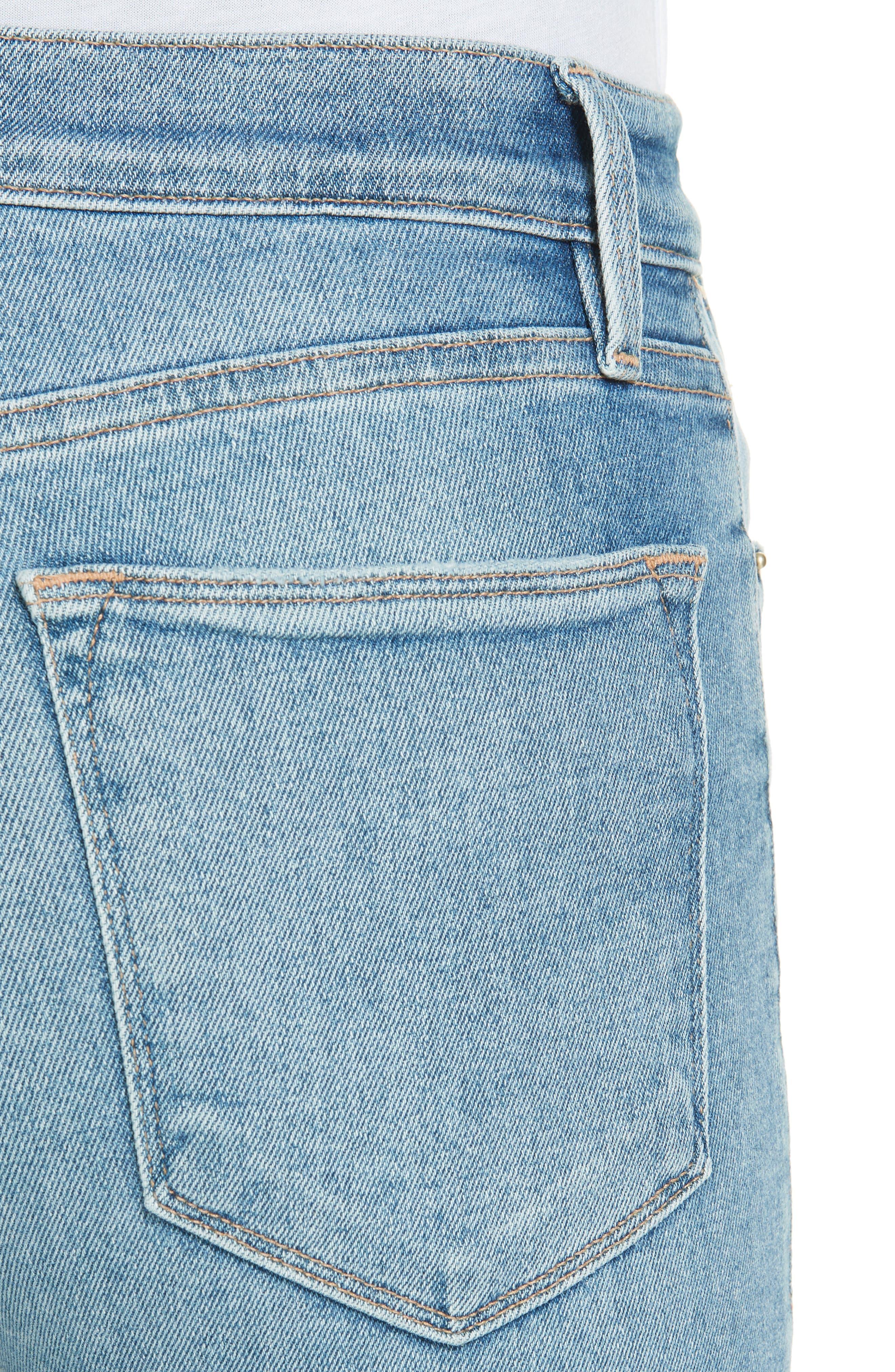 Le High Skinny Jeans,                             Alternate thumbnail 4, color,                             DUPONT DRIVE