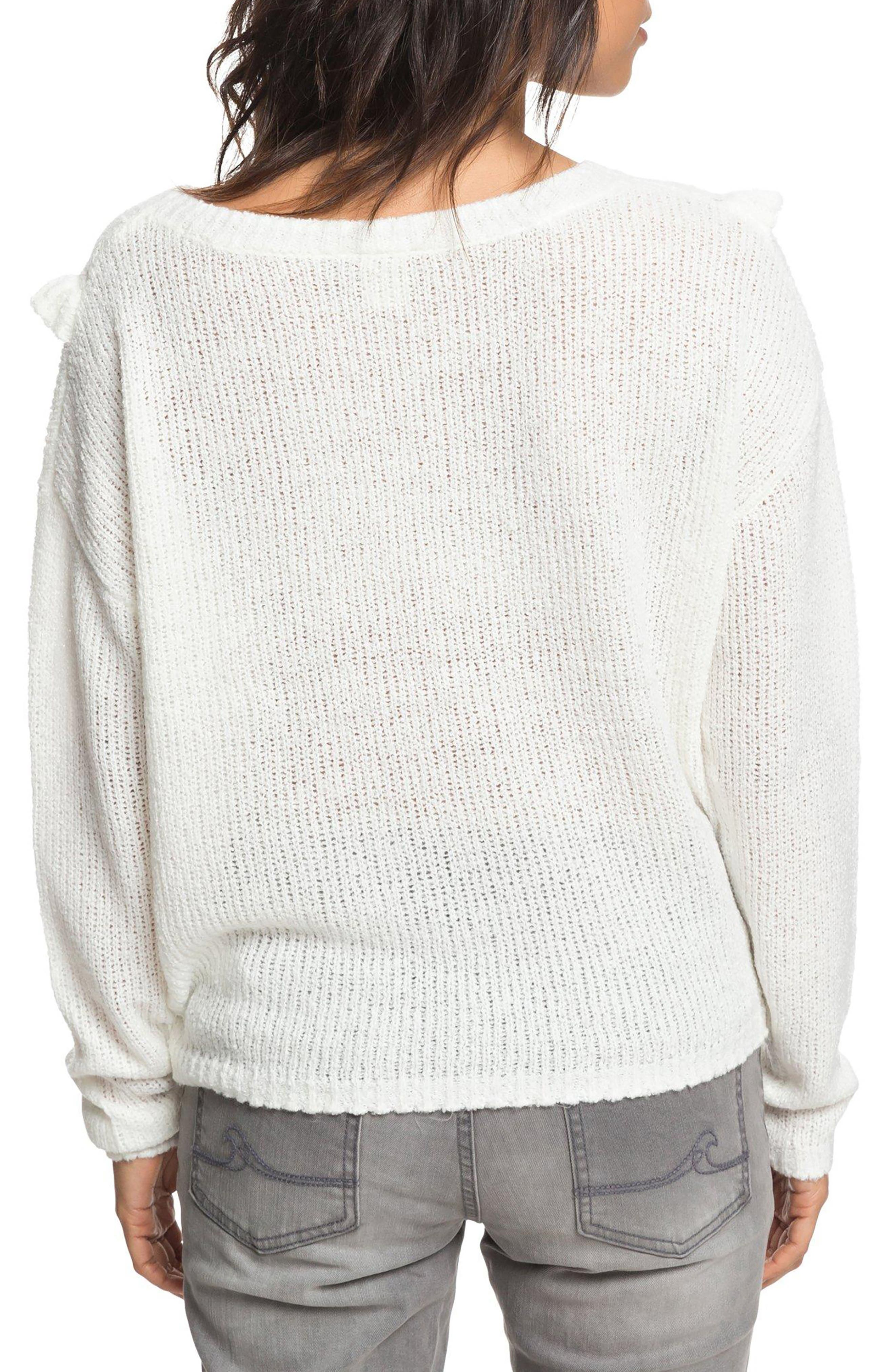 One Fine Stay Ruffle Sweater,                             Alternate thumbnail 2, color,                             MARSHMALLOW