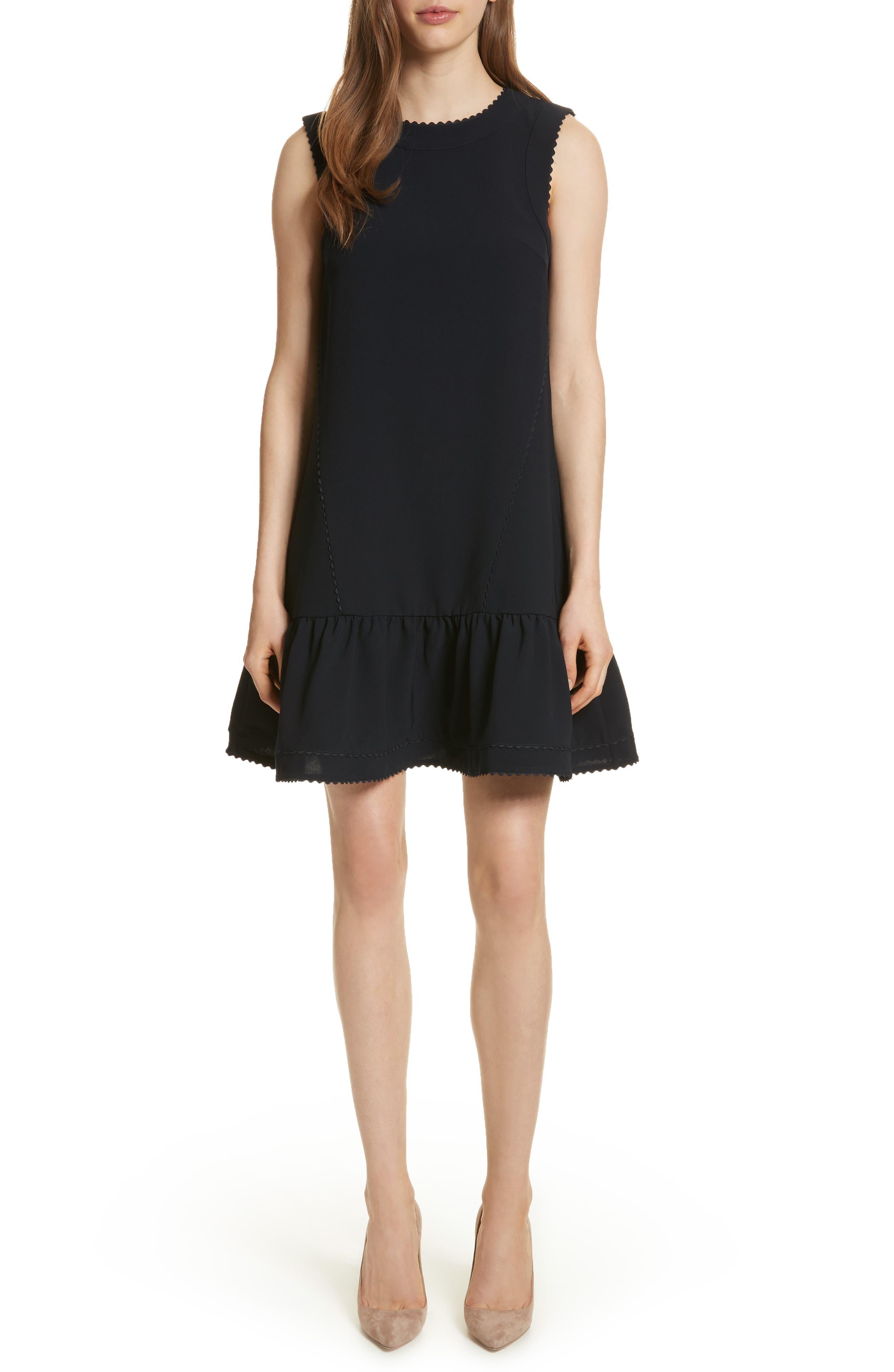 Ruffle Hem A-Line Dress,                             Main thumbnail 1, color,                             402