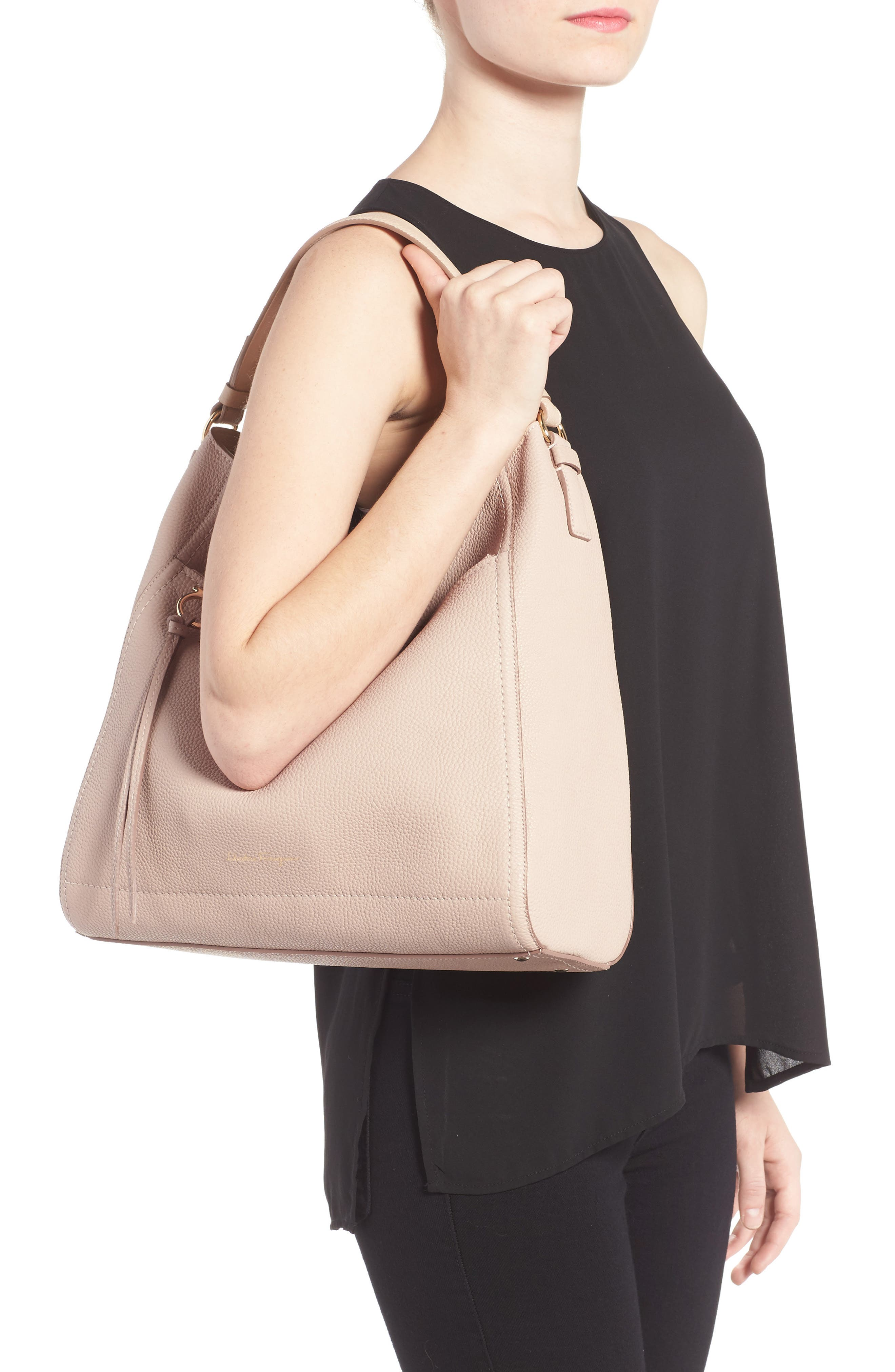 Calfskin Leather Hobo,                             Alternate thumbnail 2, color,                             250