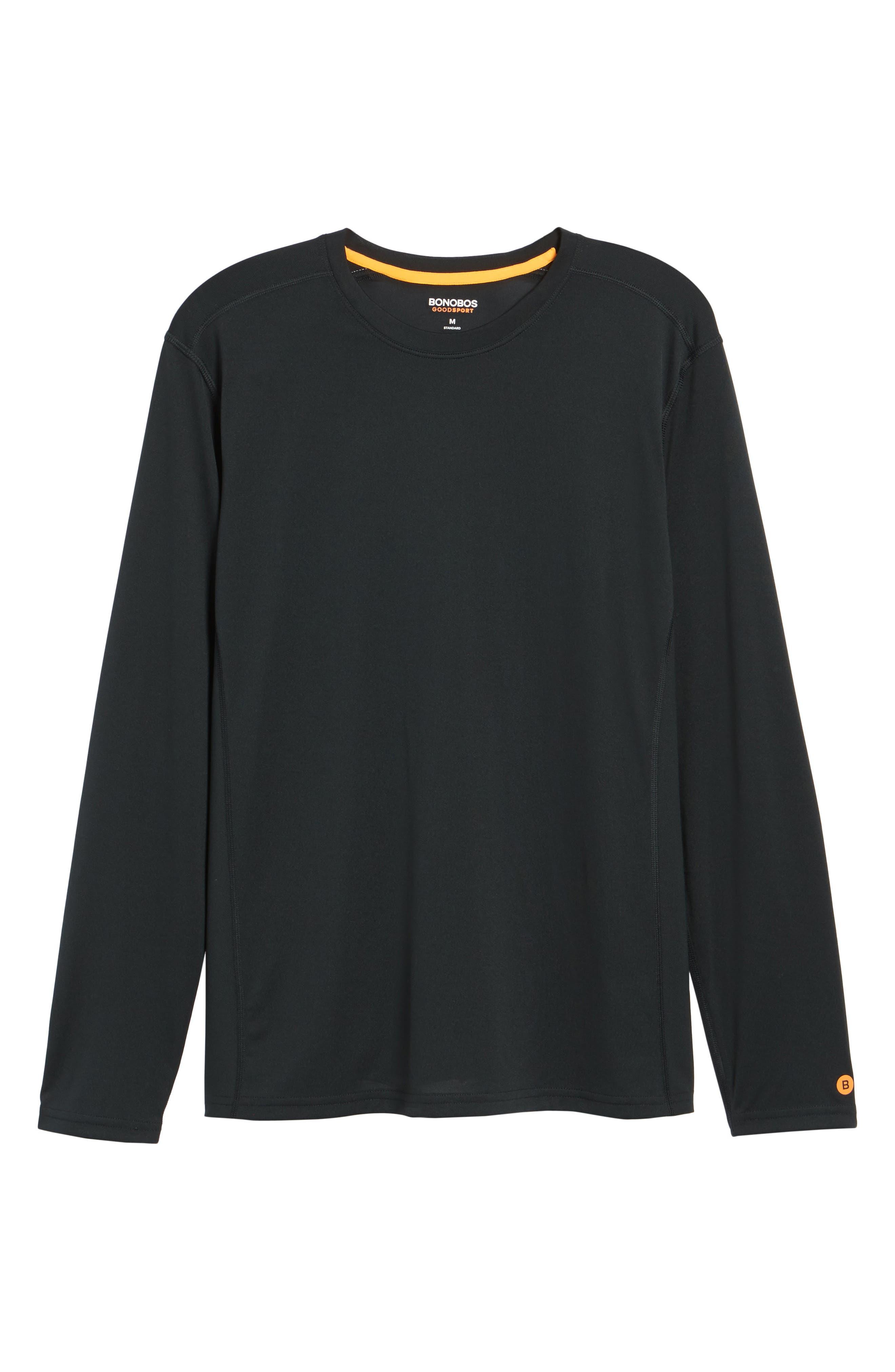 Goodsport T-Shirt,                             Alternate thumbnail 6, color,                             JET BLACK