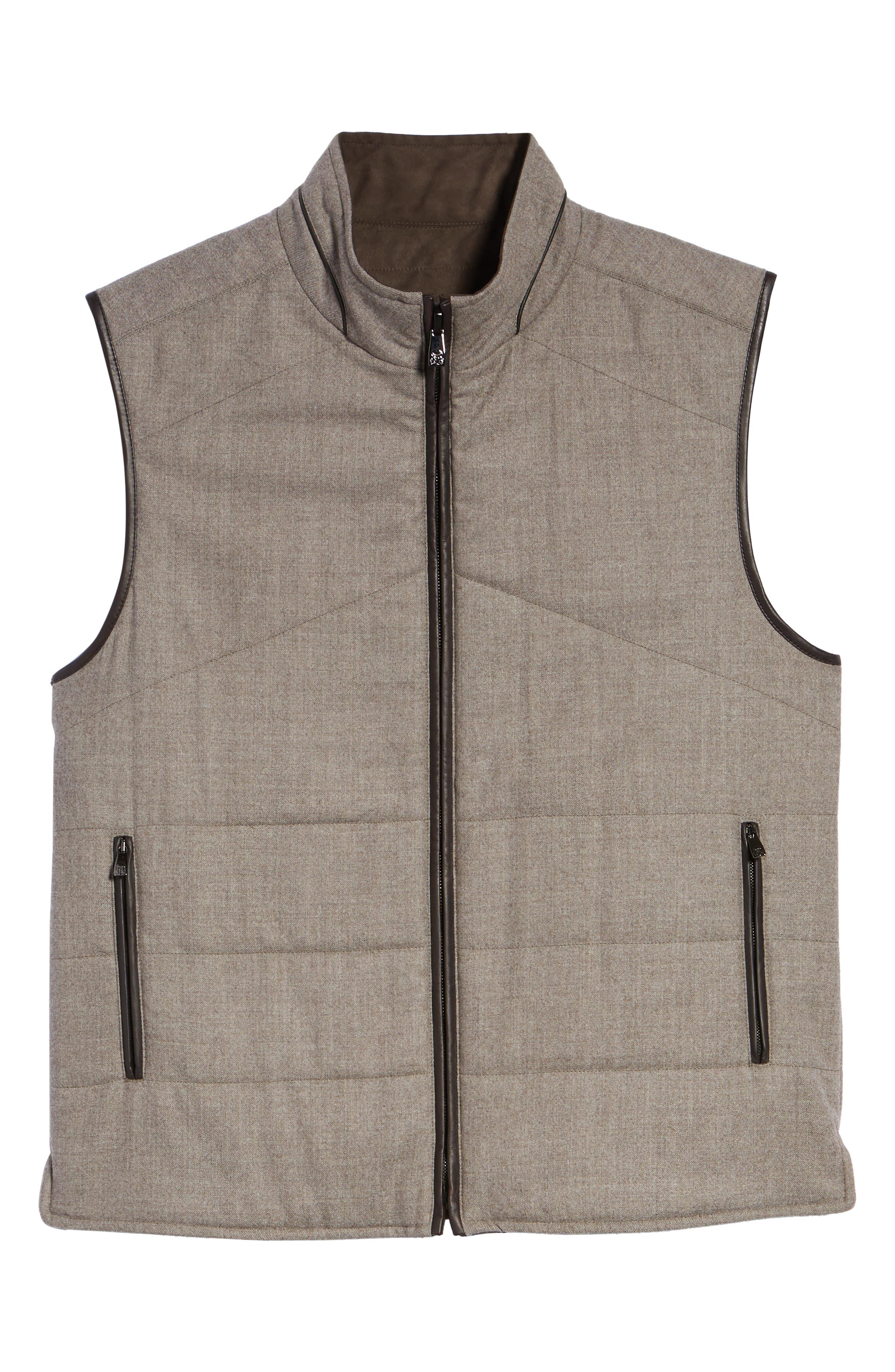 Classic Fit Reversible Vest,                             Alternate thumbnail 6, color,                             SAND