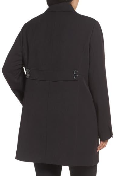 a3ed3ea7597 Kenneth Cole New York Single Breasted Ponte Coat (Plus Size)