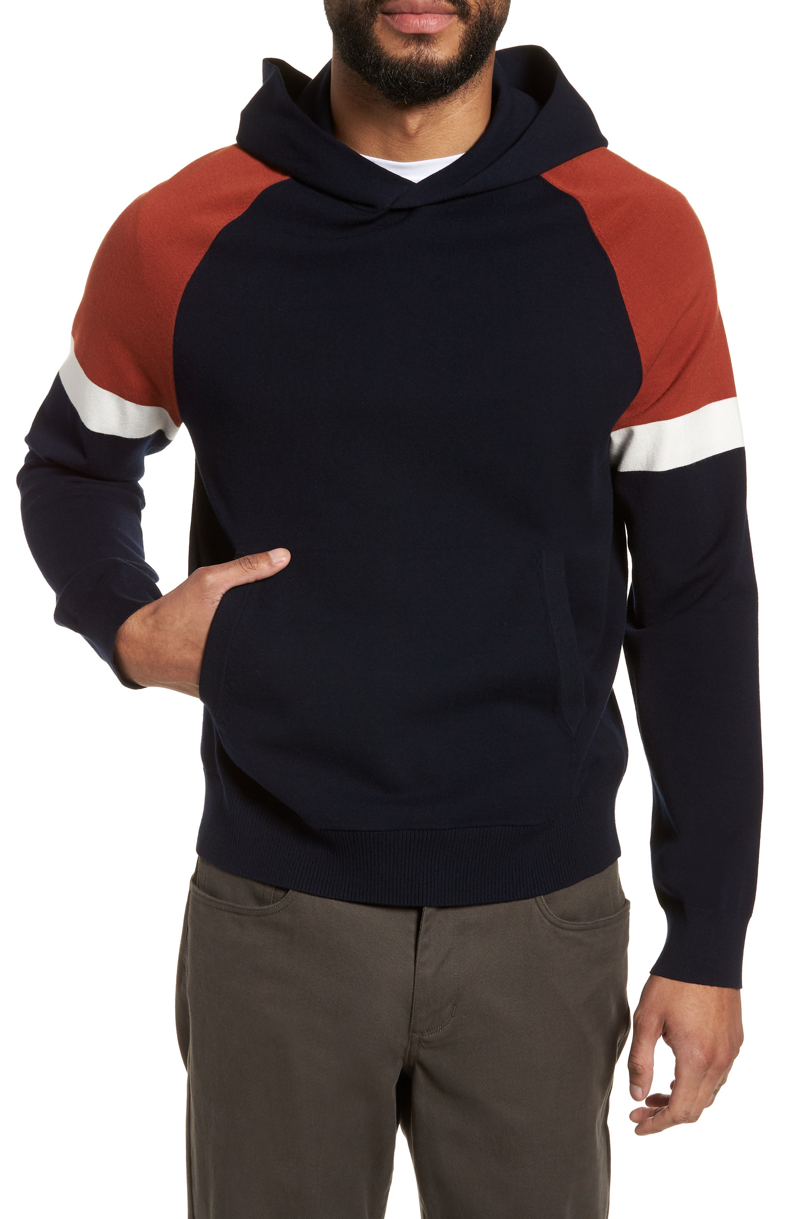 Colorblocked Pullover Hoodie,                             Main thumbnail 2, color,