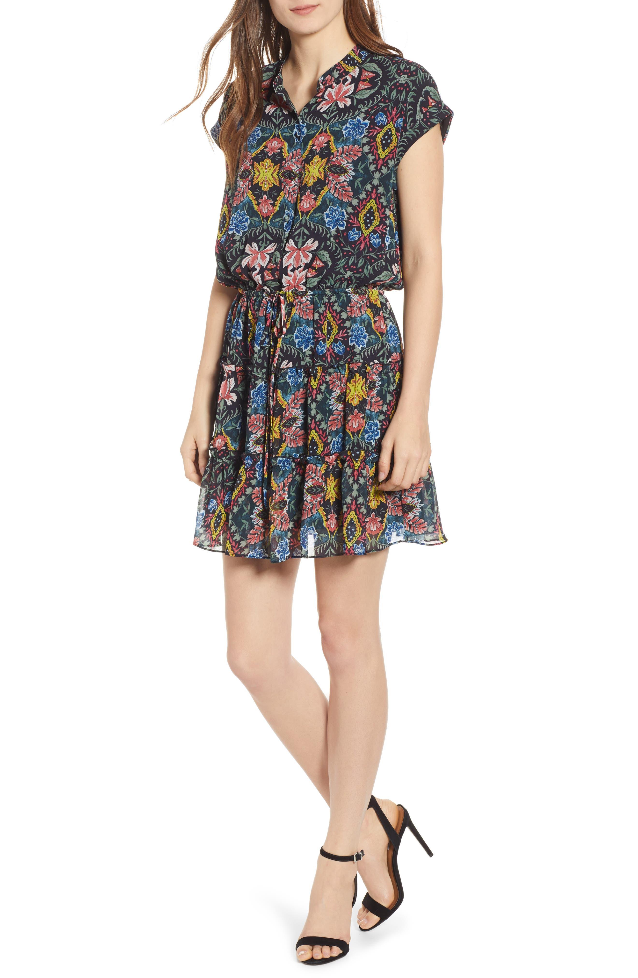 Rebecca Minkoff Ollie Floral Minidress, Black