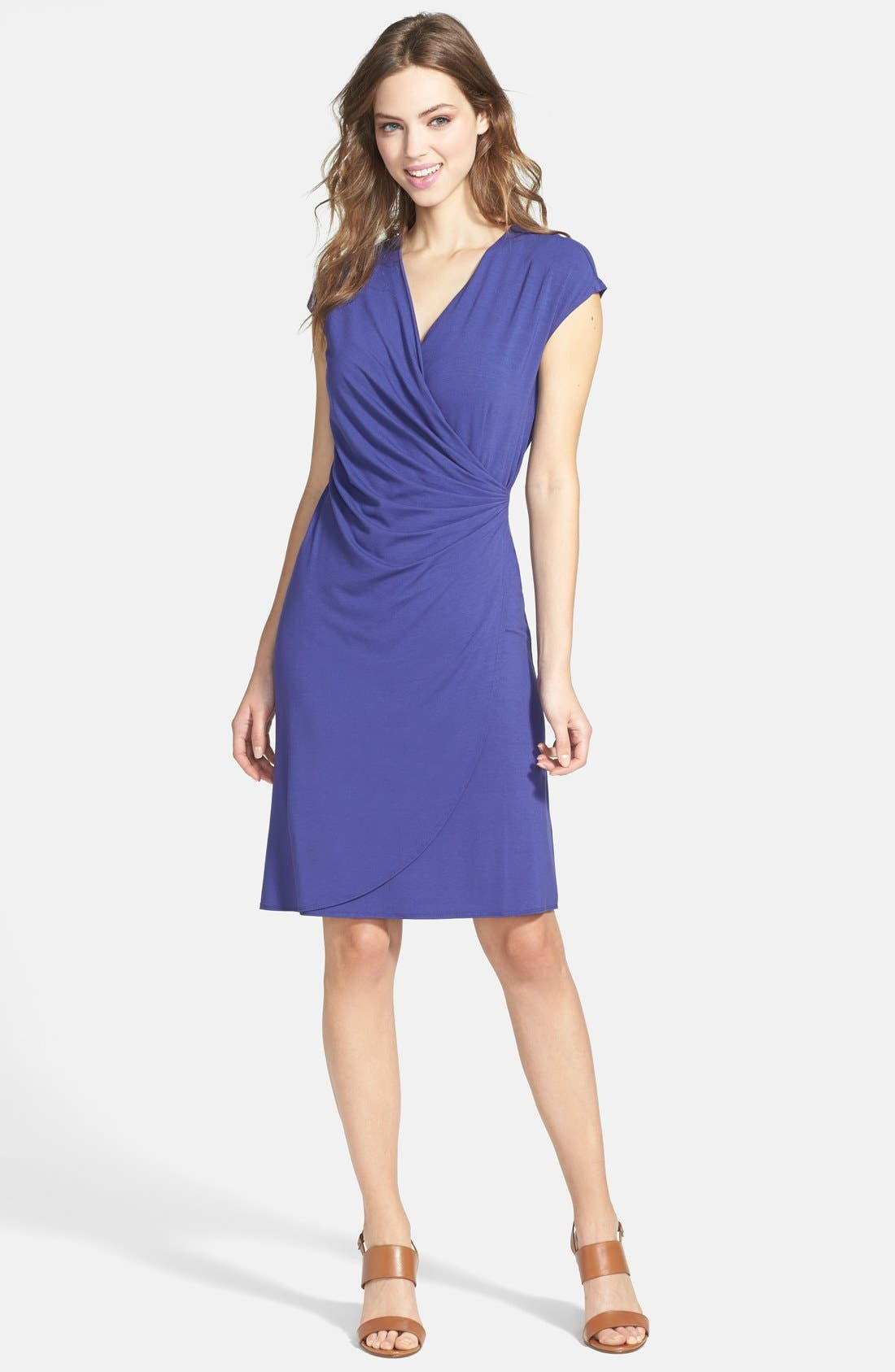 'Tambour' Side Gathered Dress,                             Main thumbnail 6, color,