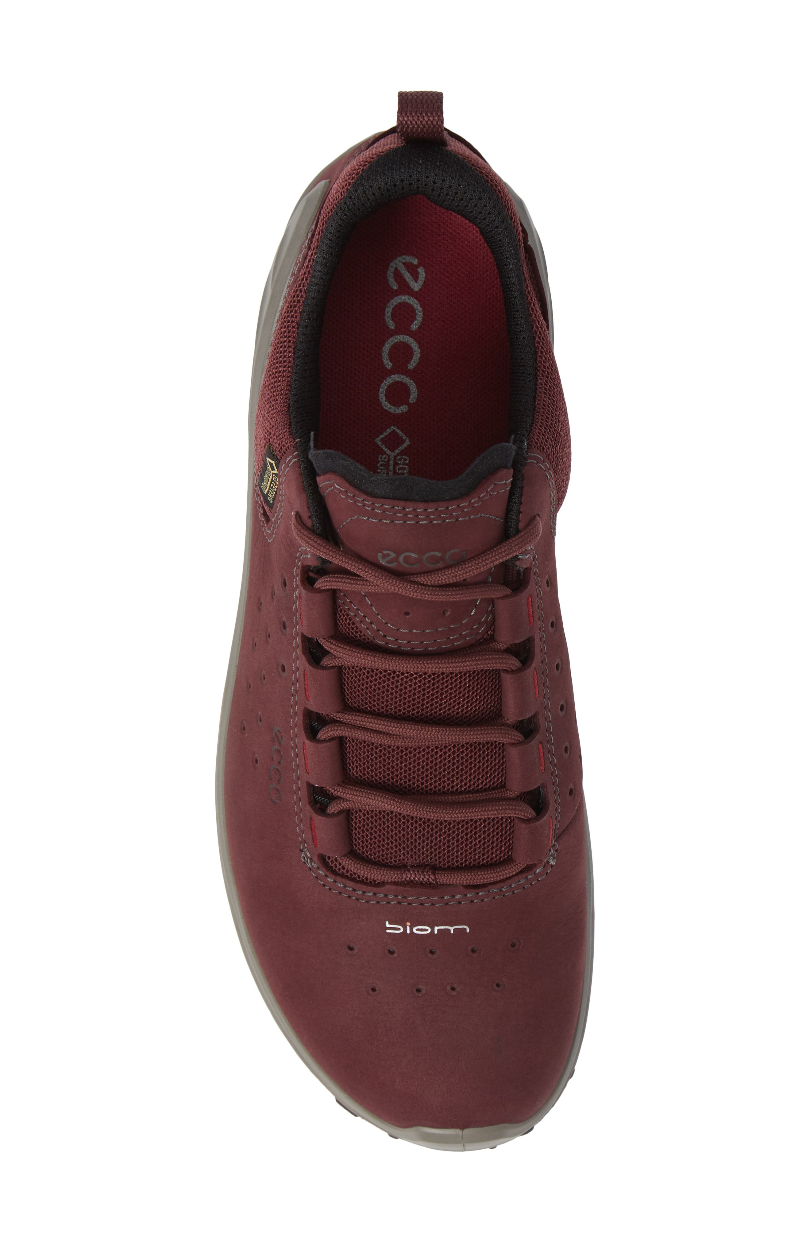 BIOM Venture GTX Sneaker,                             Alternate thumbnail 5, color,                             WINE NUBUCK LEATHER
