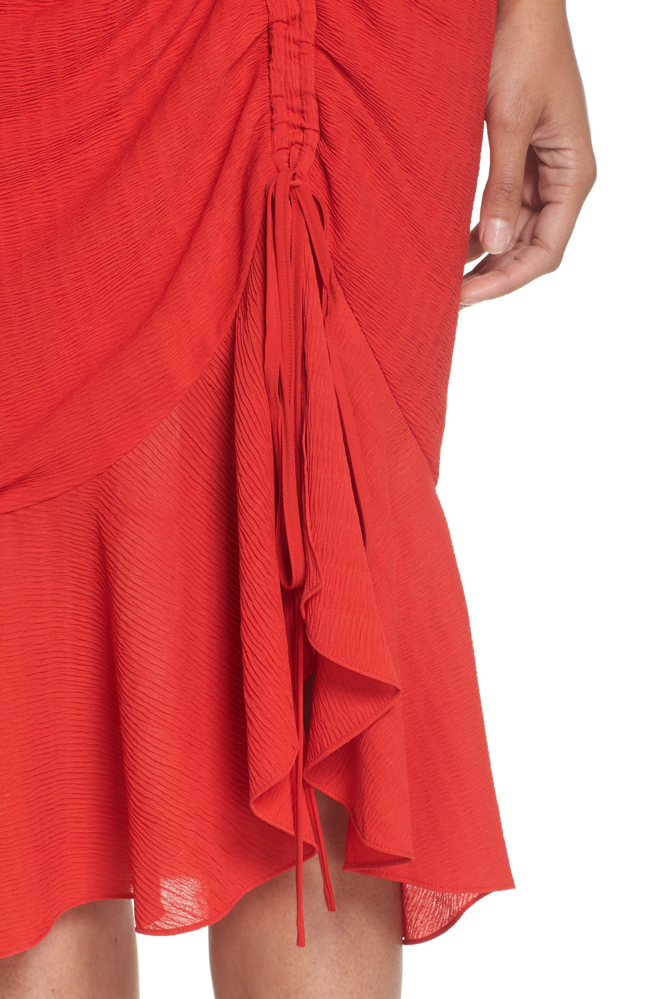 Ti Amo Ruched Halter Dress,                             Alternate thumbnail 4, color,                             620