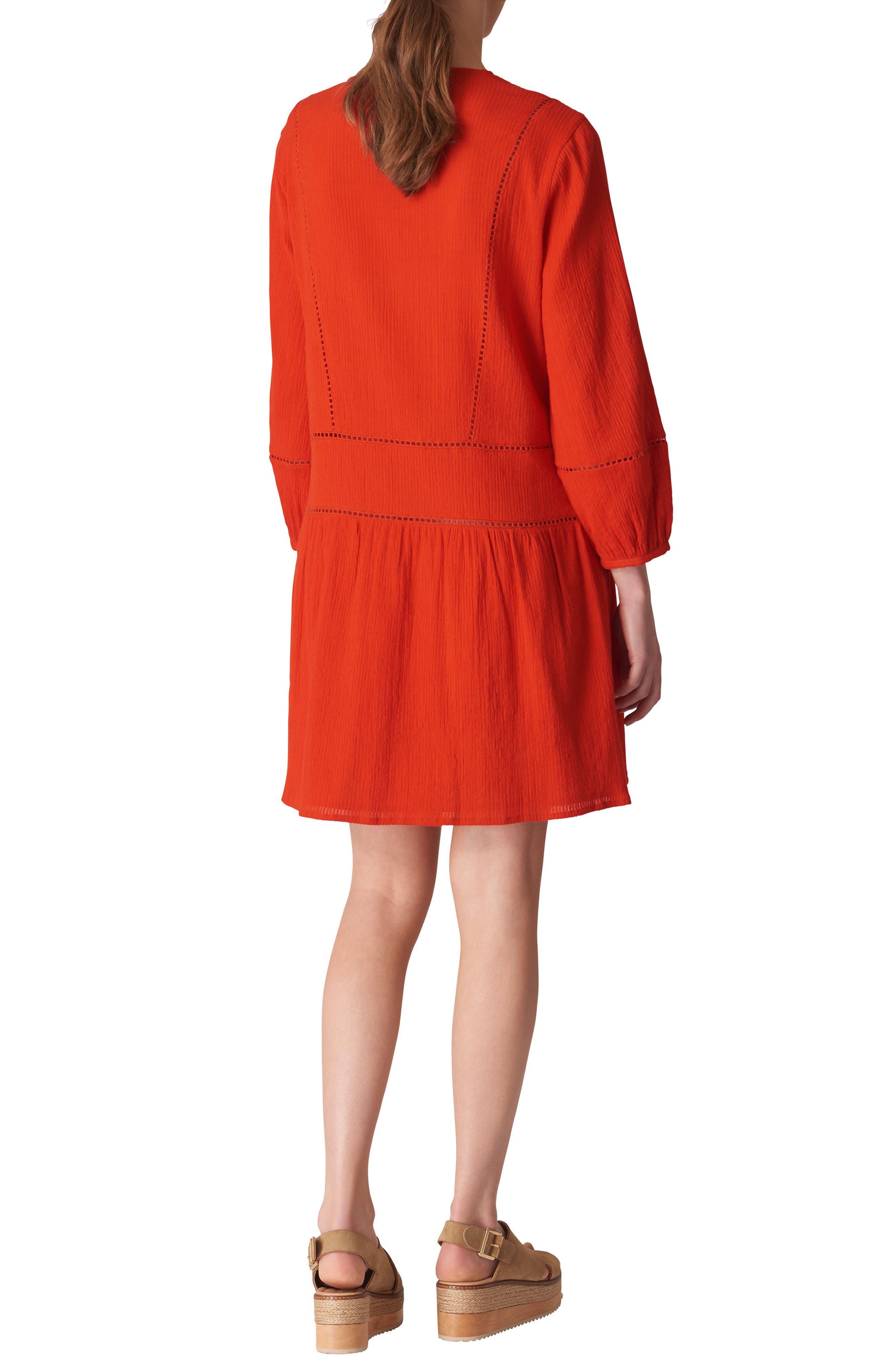 Priya Dress,                             Alternate thumbnail 2, color,                             FLAME
