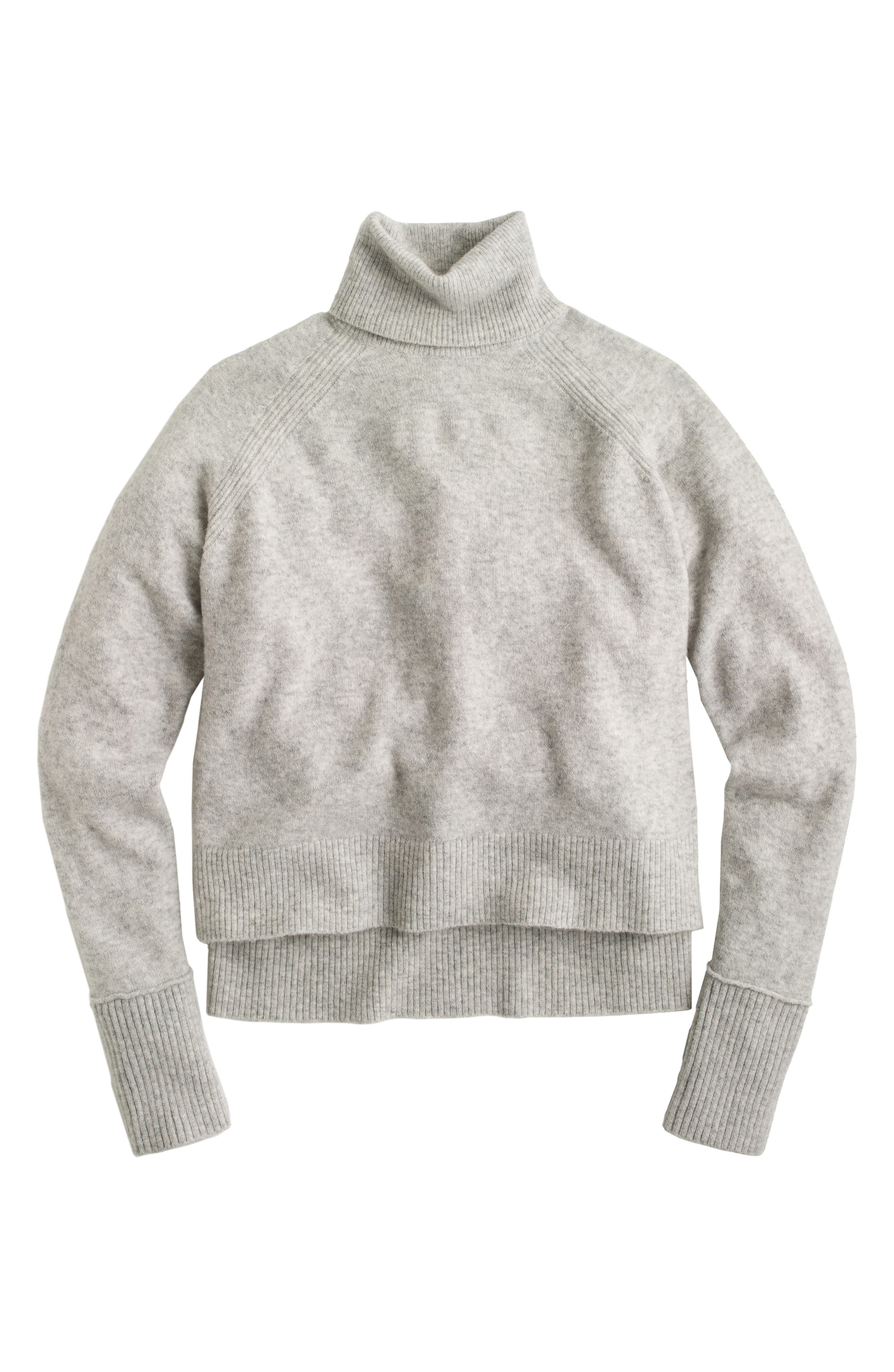 Side Slit Supersoft Turtleneck Sweater,                             Main thumbnail 2, color,